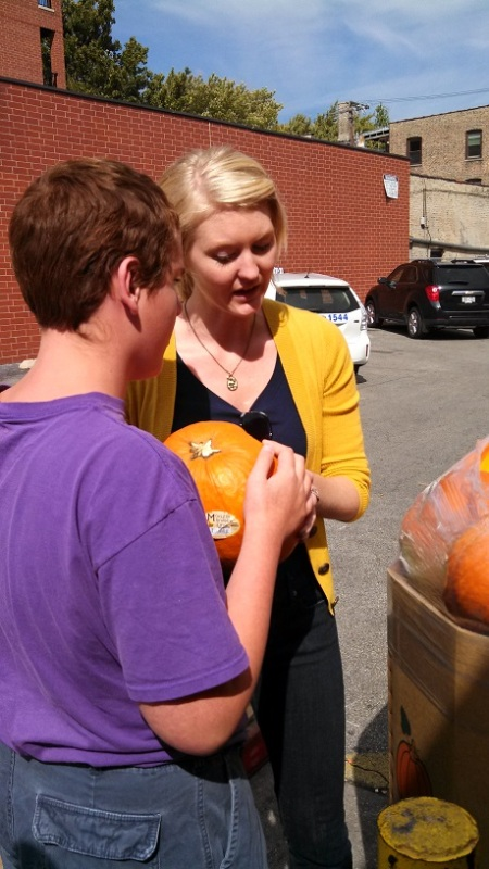 We've been enjoying the wonders of Fall - checking out the pumpkins ...