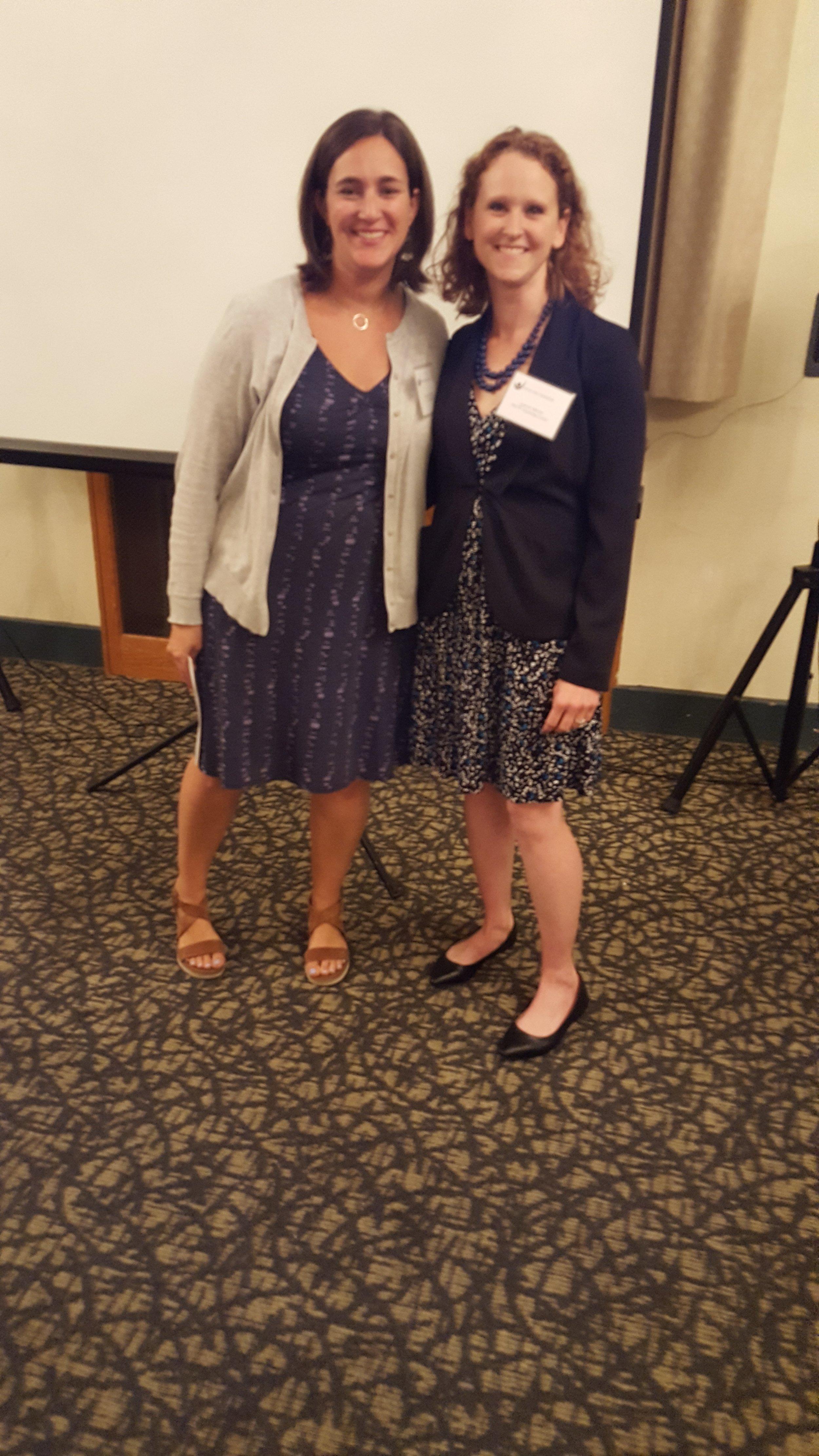 Special Kids Board Vice President Lauren Litchfield (Left) with PACTT Transition Specialist Lauren Mucha