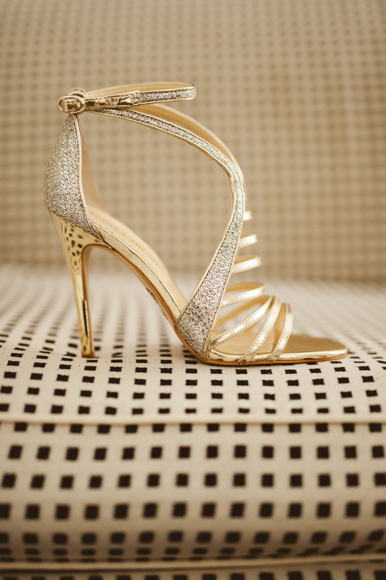 Strappy Gold Sandals | Palm Springs Wedding | Michelle Garibay Events | Palm Springs Avalon Wedding Details