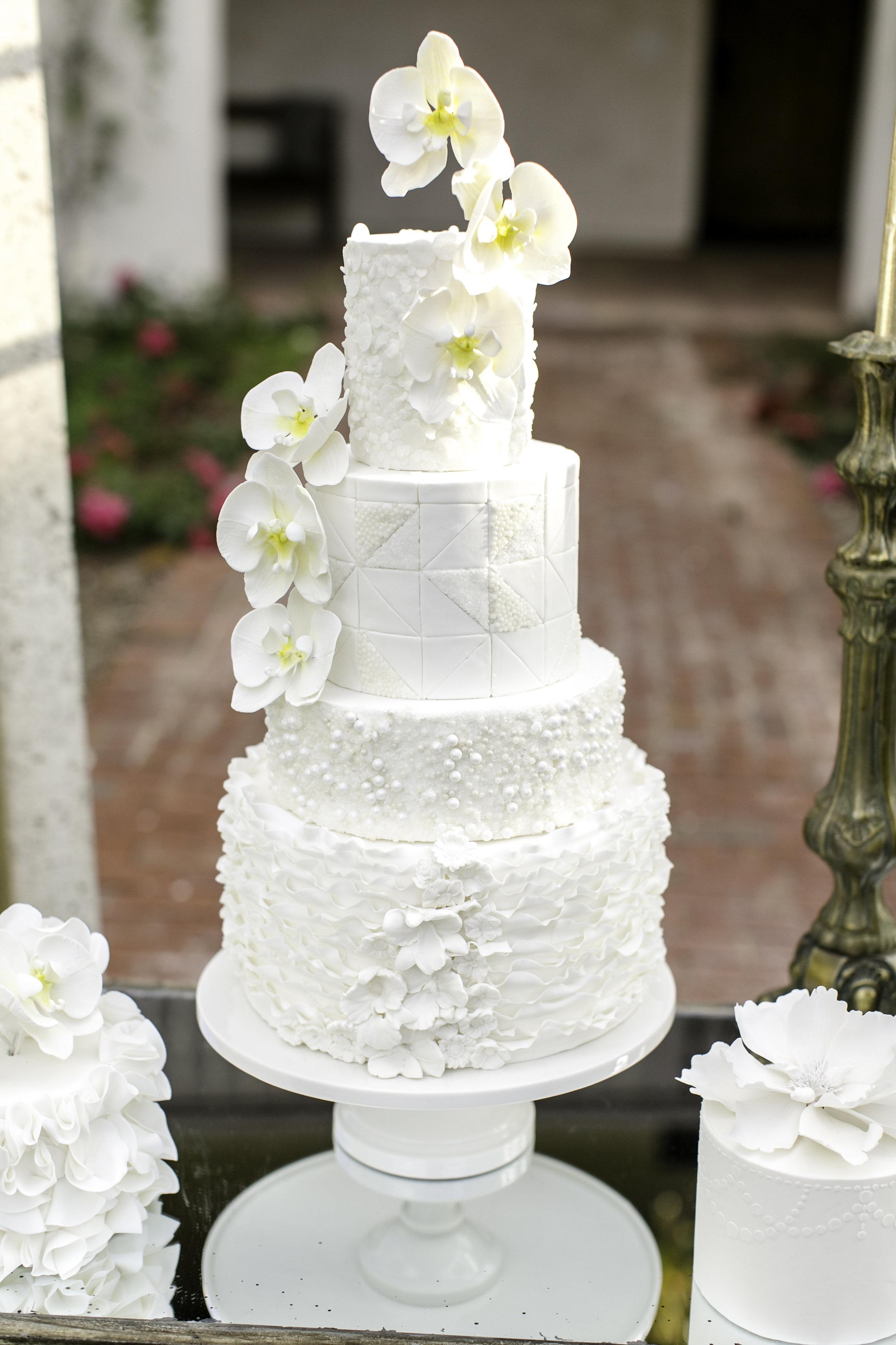 White Wedding Cake | Michelle Garibay Events | Ponte Vineyard Inn