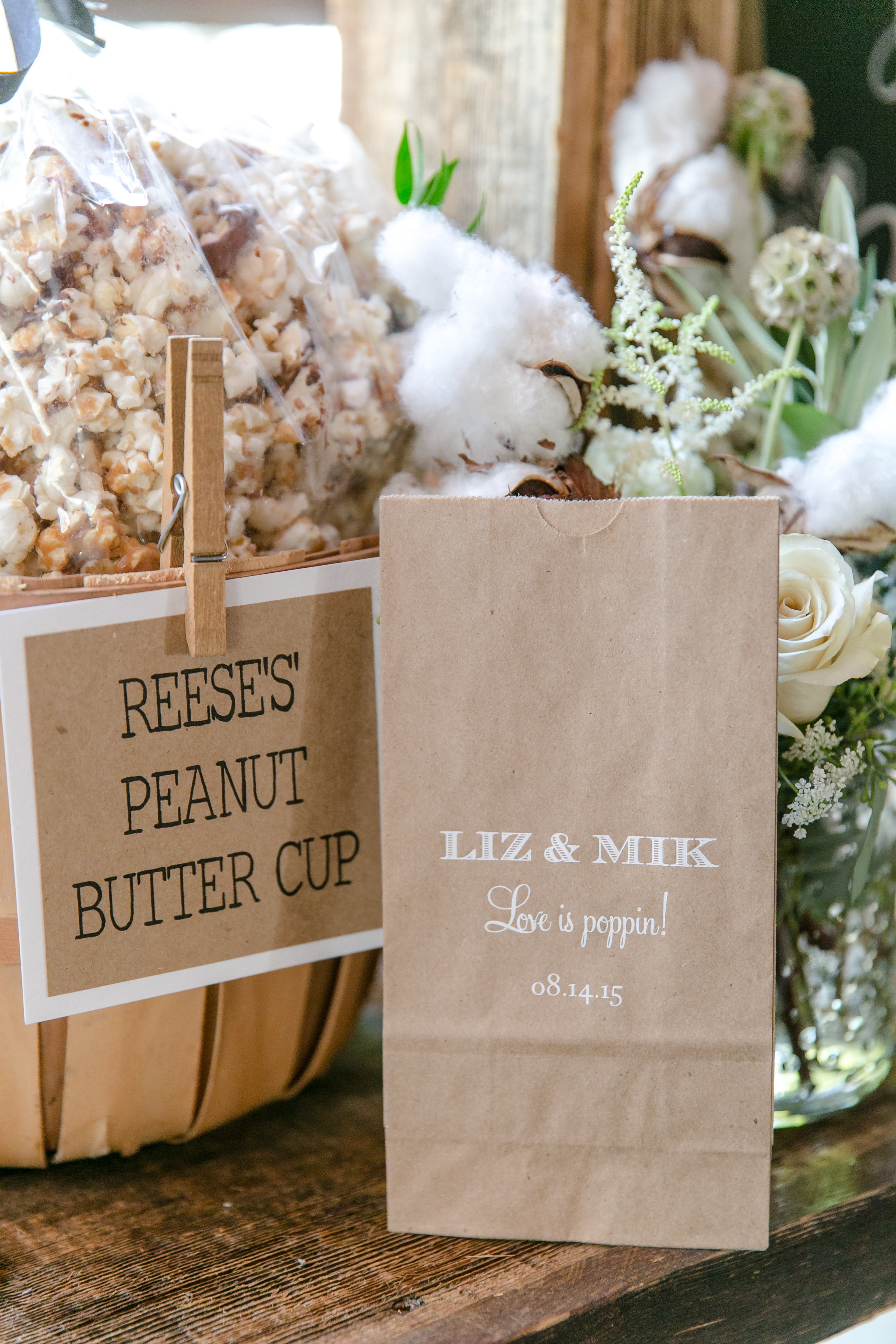 Craft Paper Popcorn Bags | Michelle Garibay Events