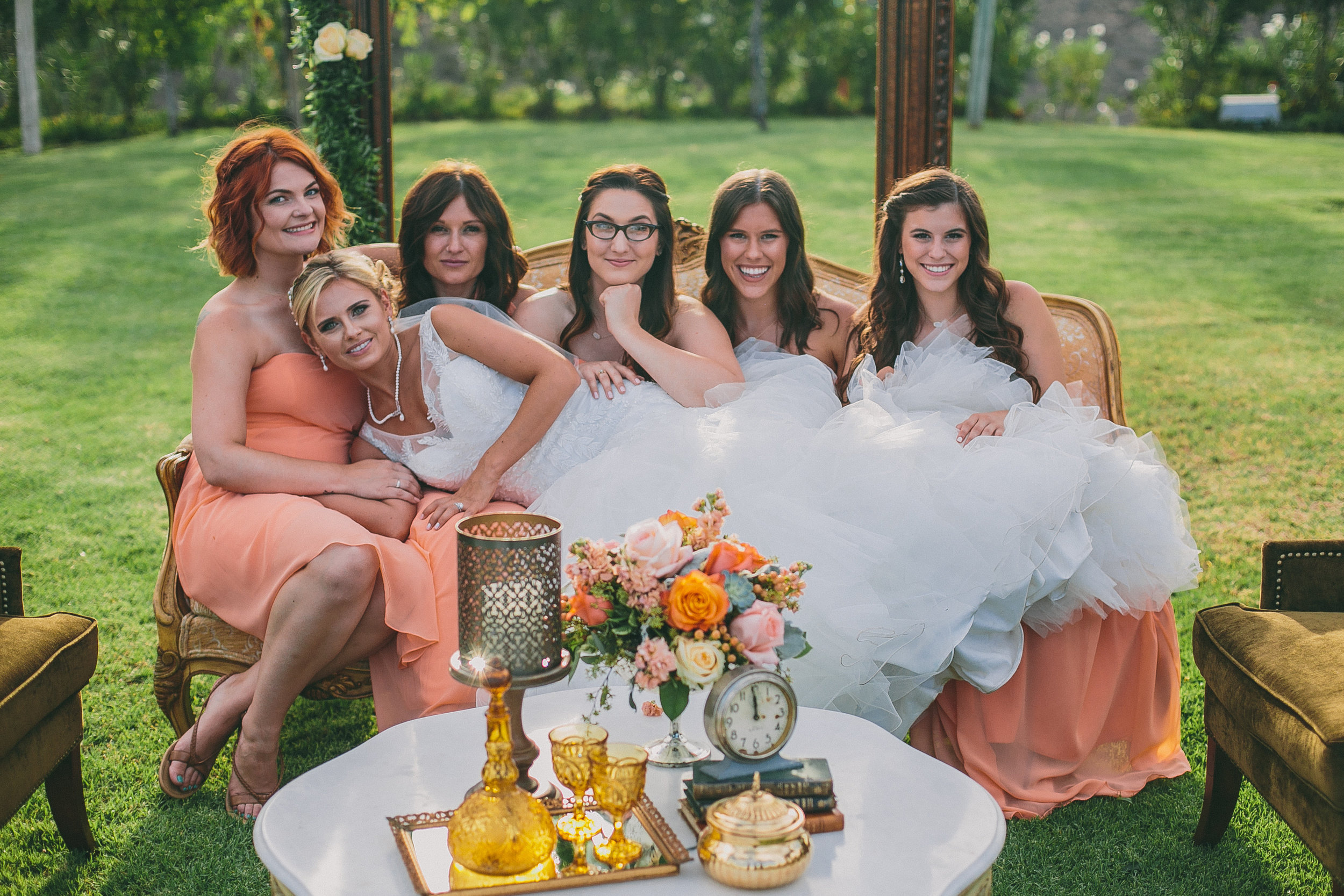 Bride and Her Girls at Mount Palomar | Michelle Garibay Events