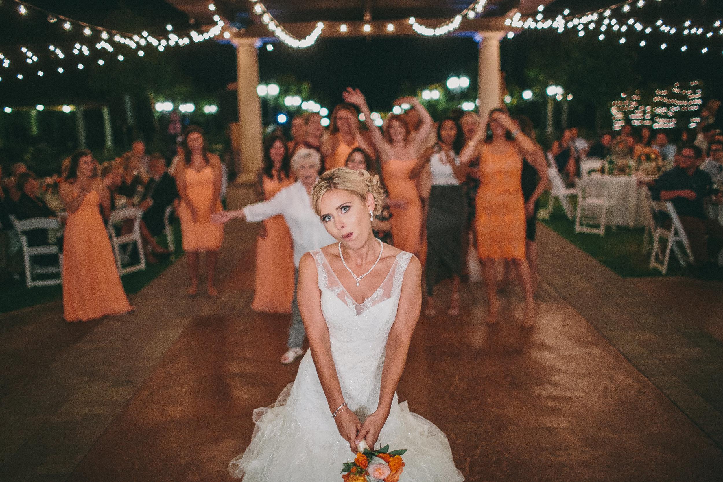 Mount Palomar Bouquet Toss | Michelle Garibay Events