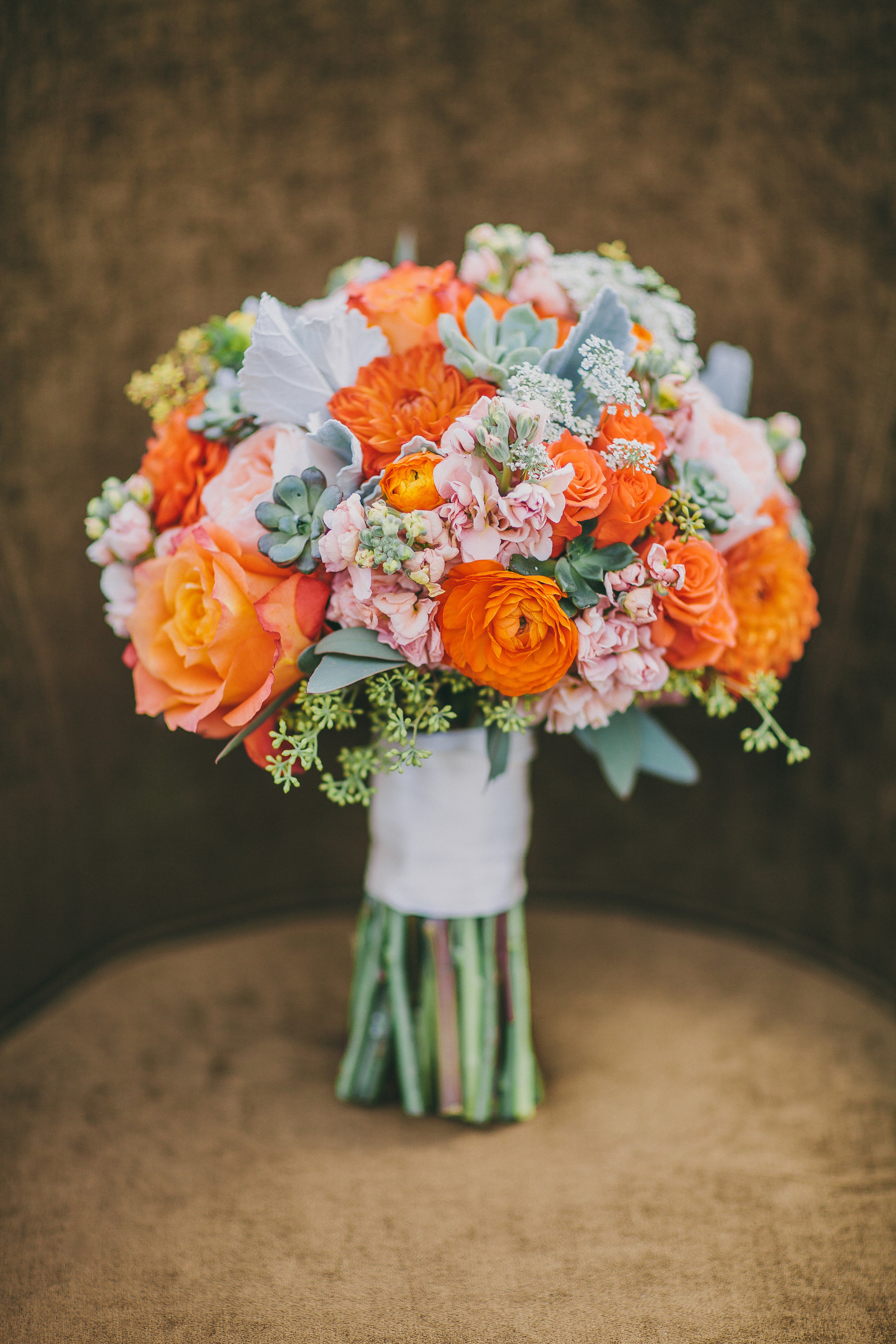 Rustic Orange Bouquet | Michelle Garibay Events