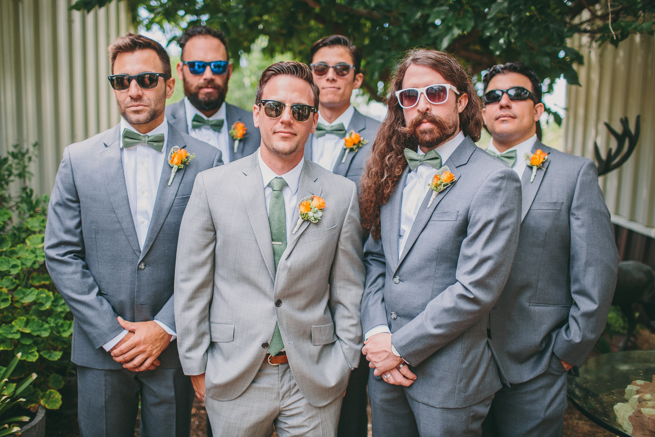 Gray Groomsmen Suits and Bowties | Michelle Garibay Events