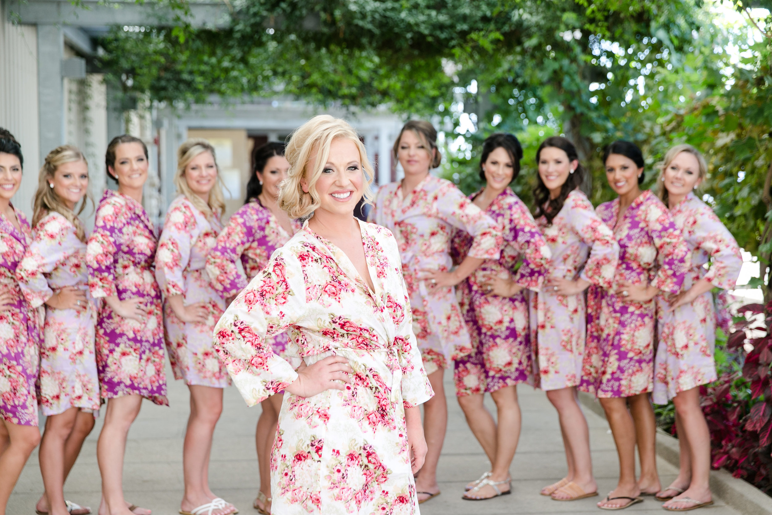 Floral Bridesmaid Robes | Michelle Garibay Events | Leah Marie Photography