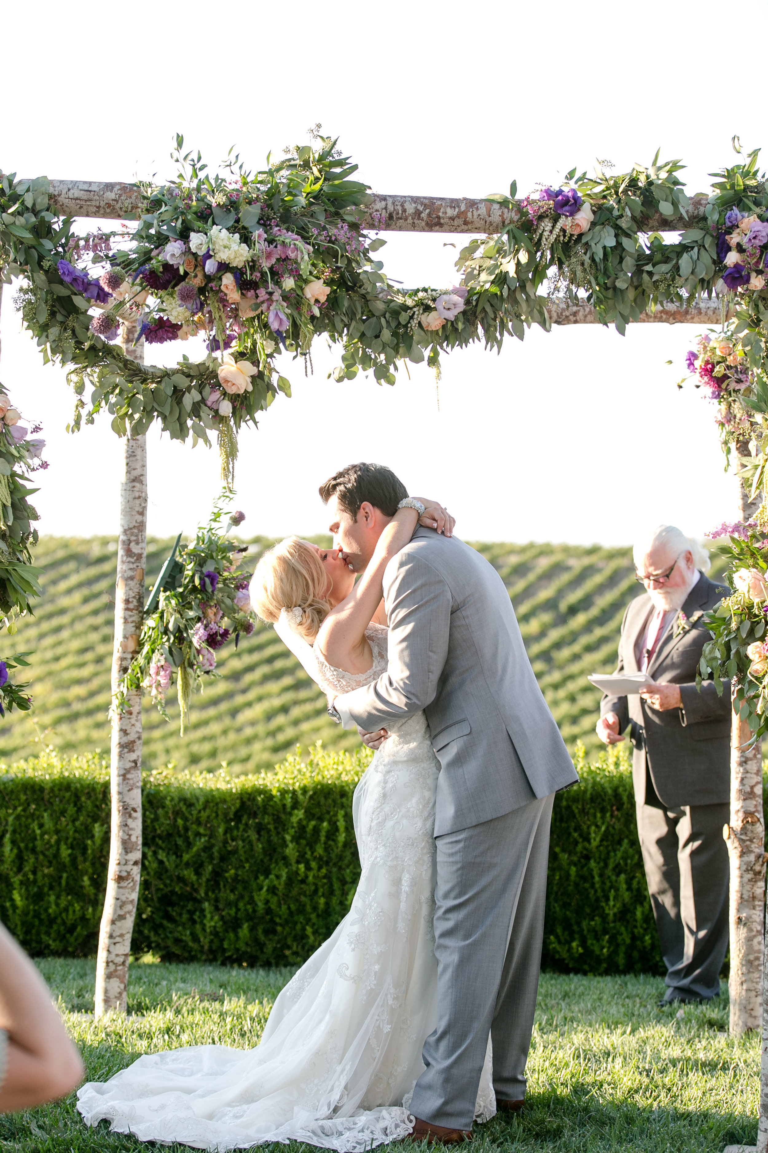 First Kiss at Callaway | Michelle Garibay Events | Leah Marie Photography