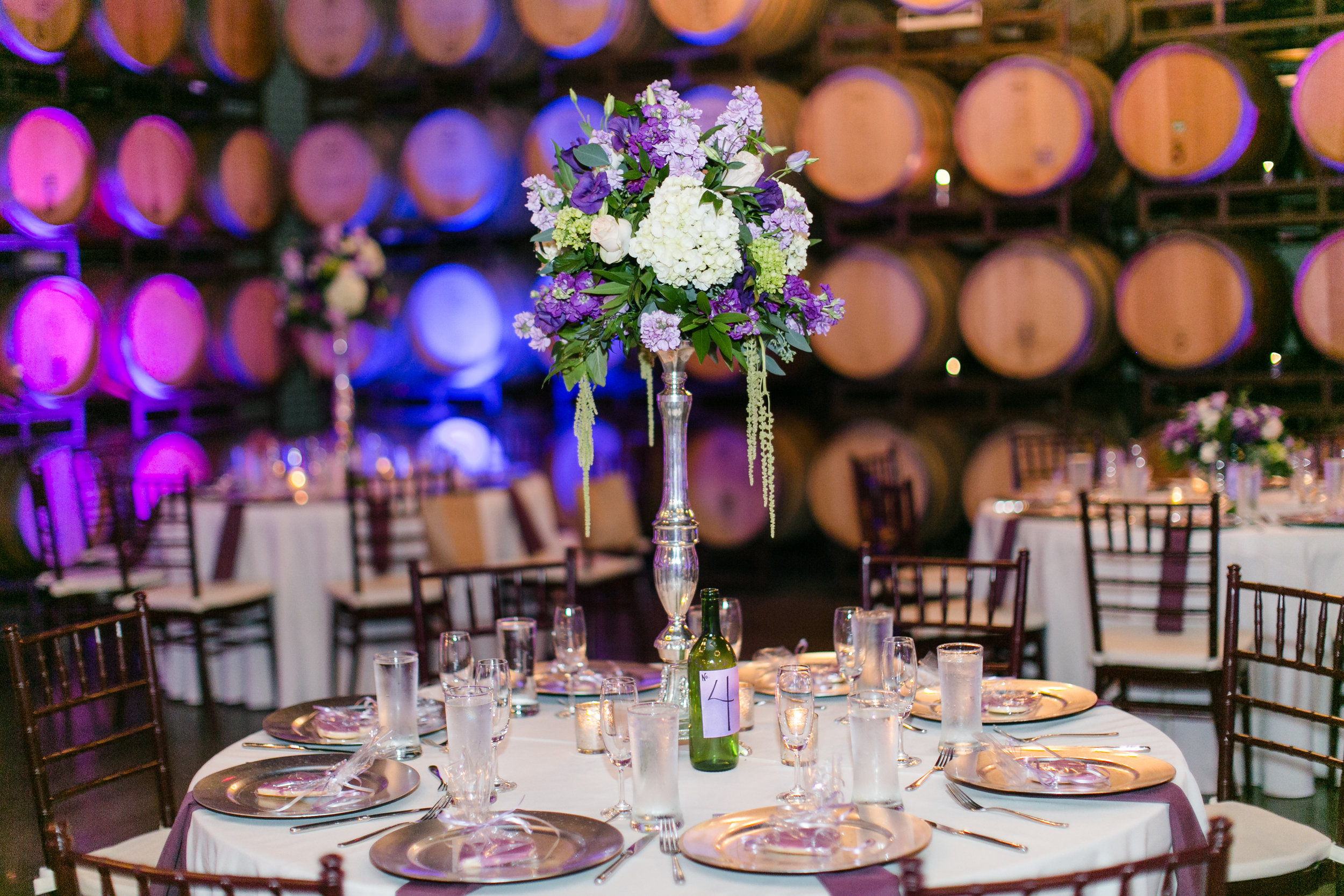 Romantic Purple Lighting | Michelle Garibay Events | Leah Marie Photography