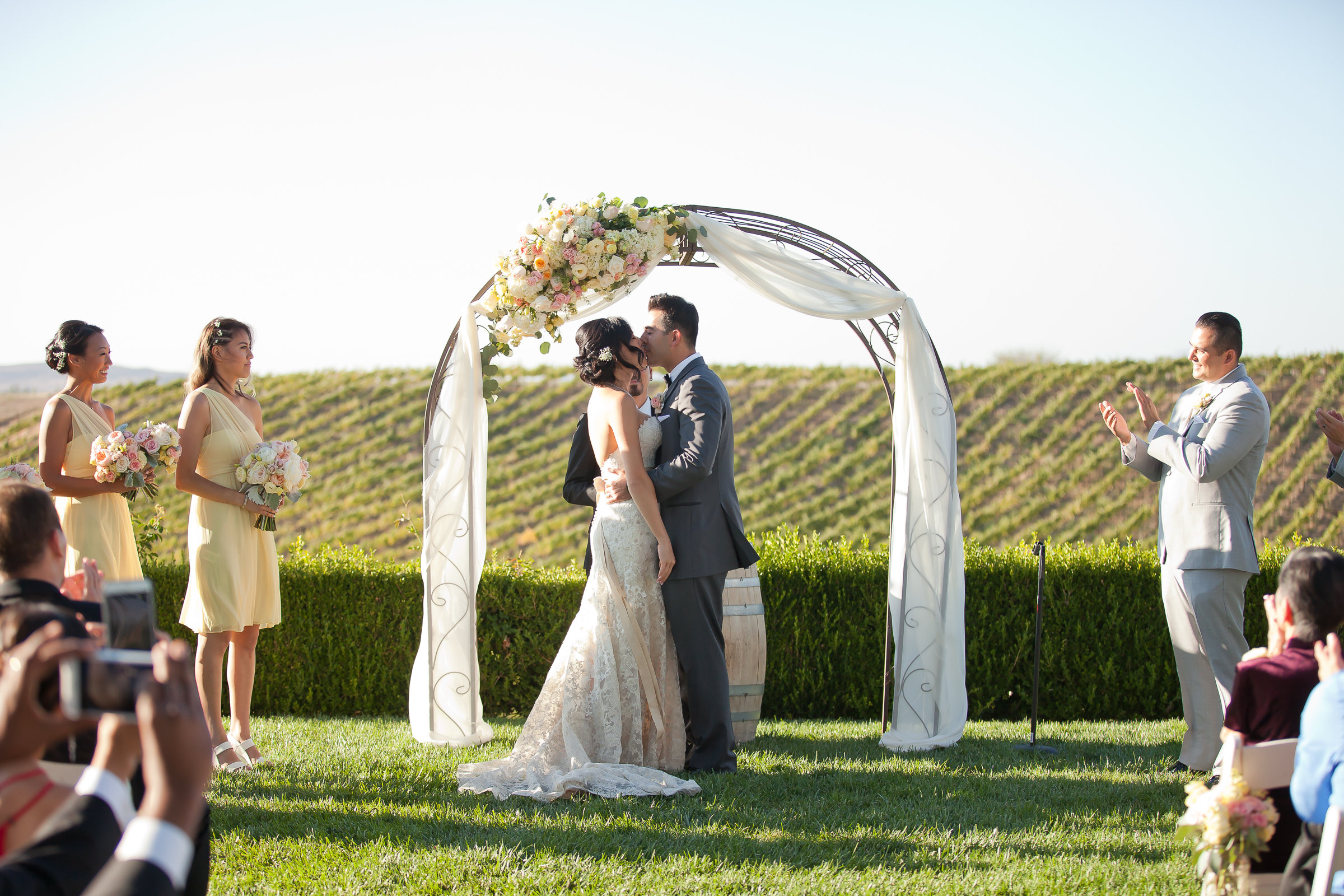 Romantic Ceremony Draping | Michelle Garibay Events