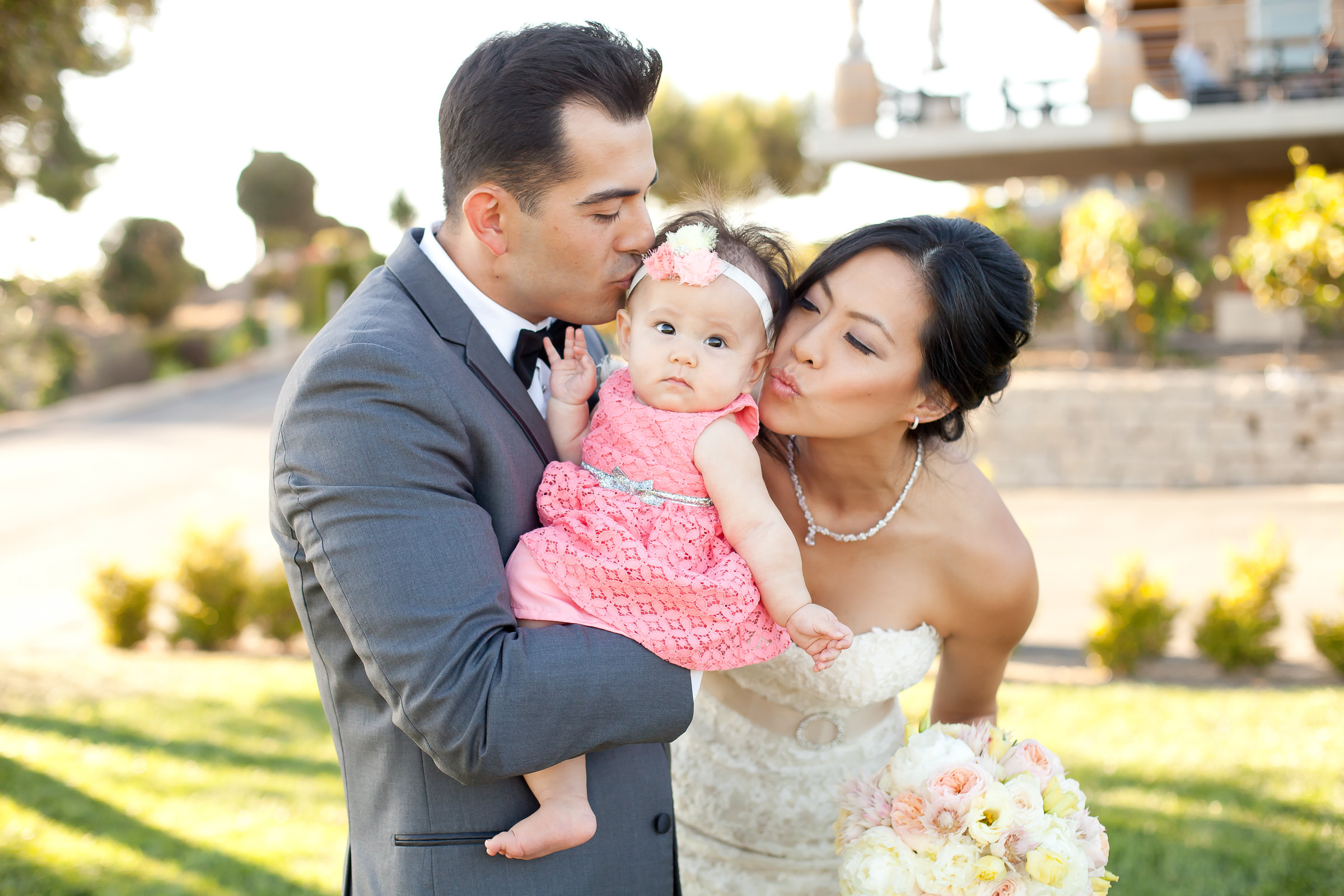 Bride, Groom and Baby Makes 3 | Michelle Garibay Events