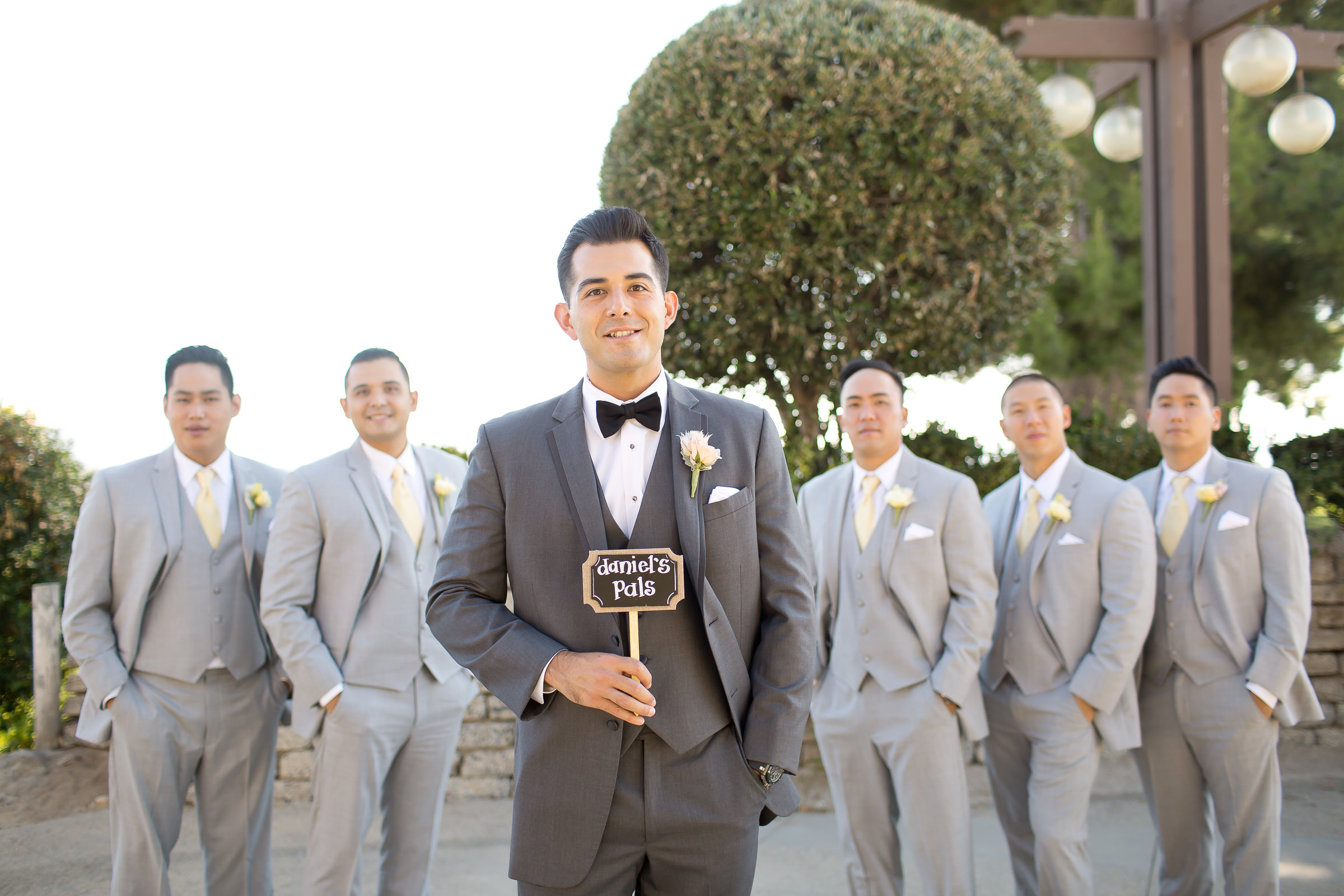Gray Groom and Groomsmen Suits | Michelle Garibay Events |