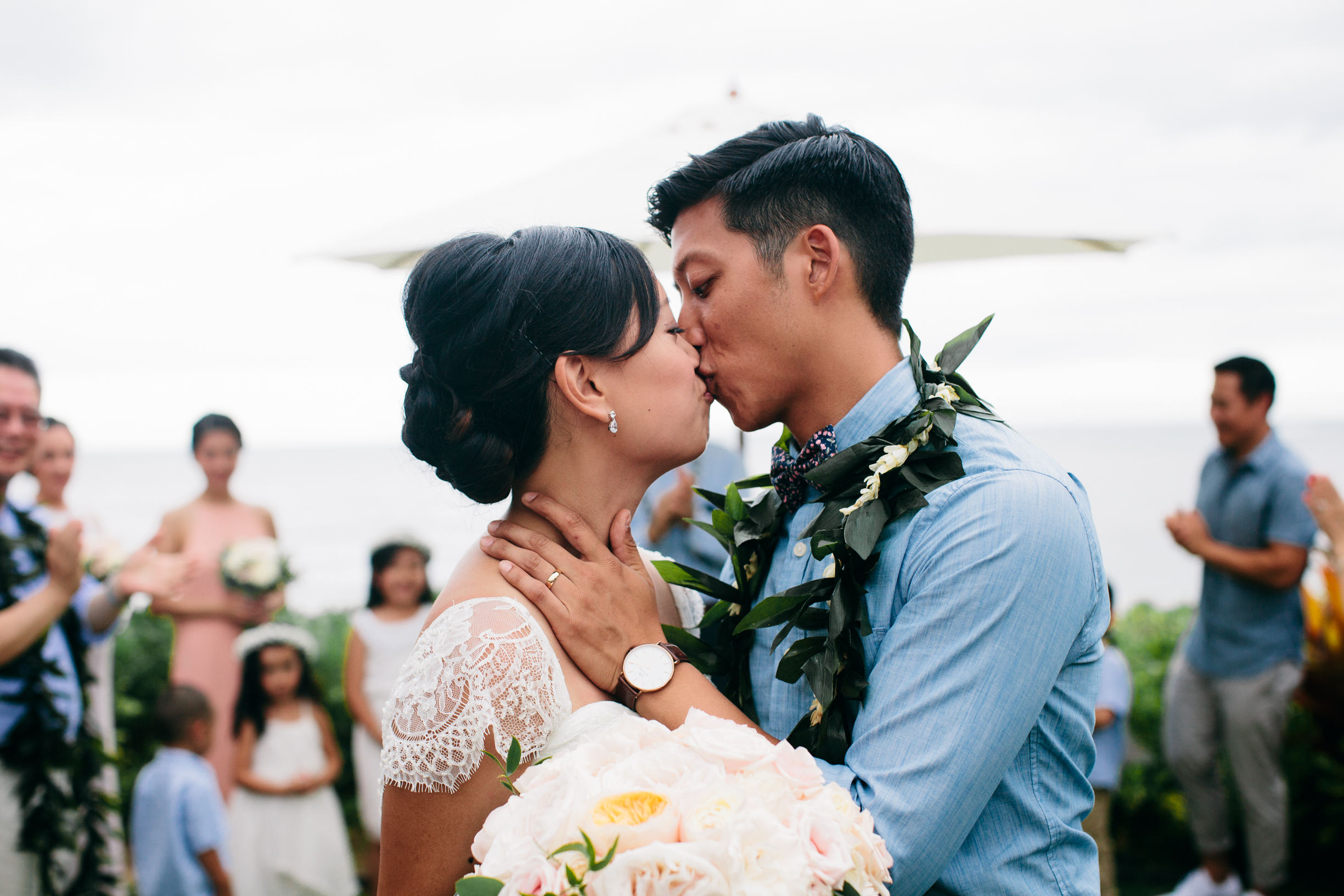 Boho Chic Oahu Beachfront Wedding | Michelle Garibay Events