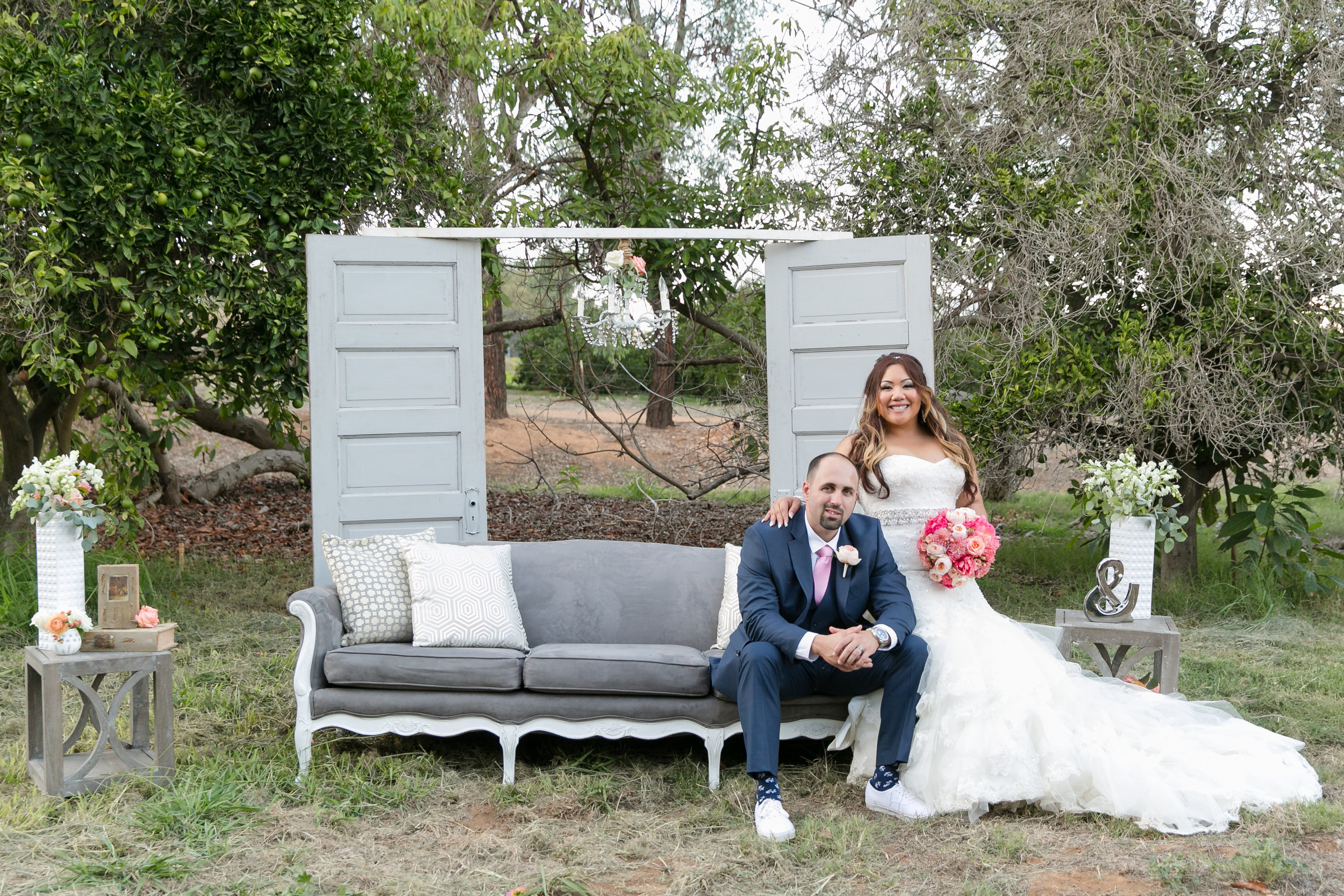 Nautical-Glam Wedding in Coral and Navy | Michelle Garibay Events