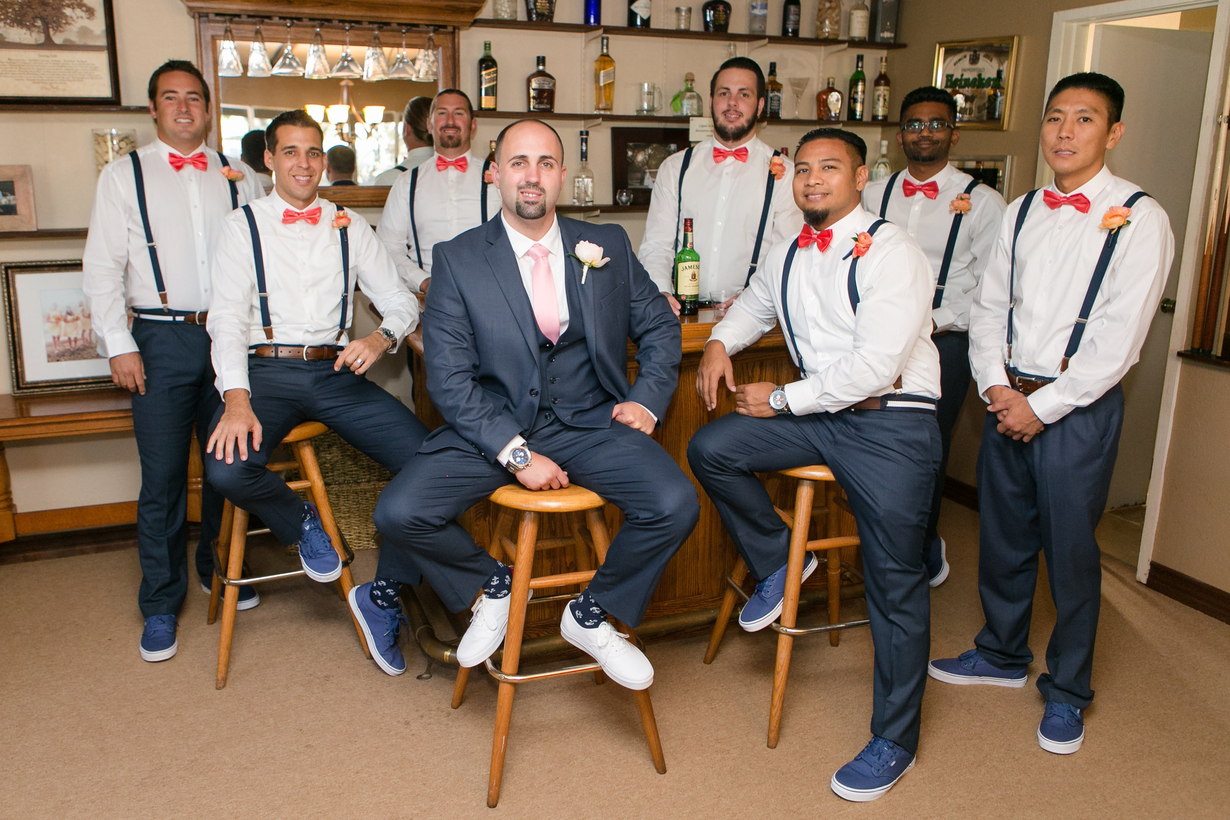Nautical Glam Wedding in Coral and Navy    Michelle Garibay Events