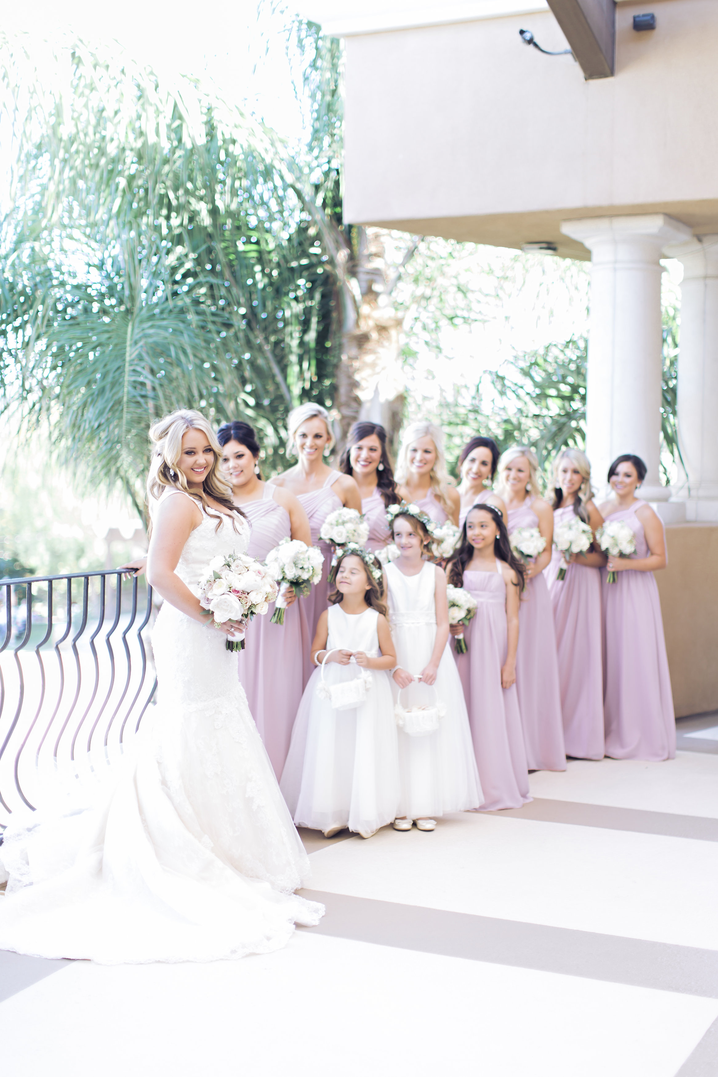 Pink Bridesmaid Dresses | Temecula Private Estate Wedding | Michelle Garibay Events