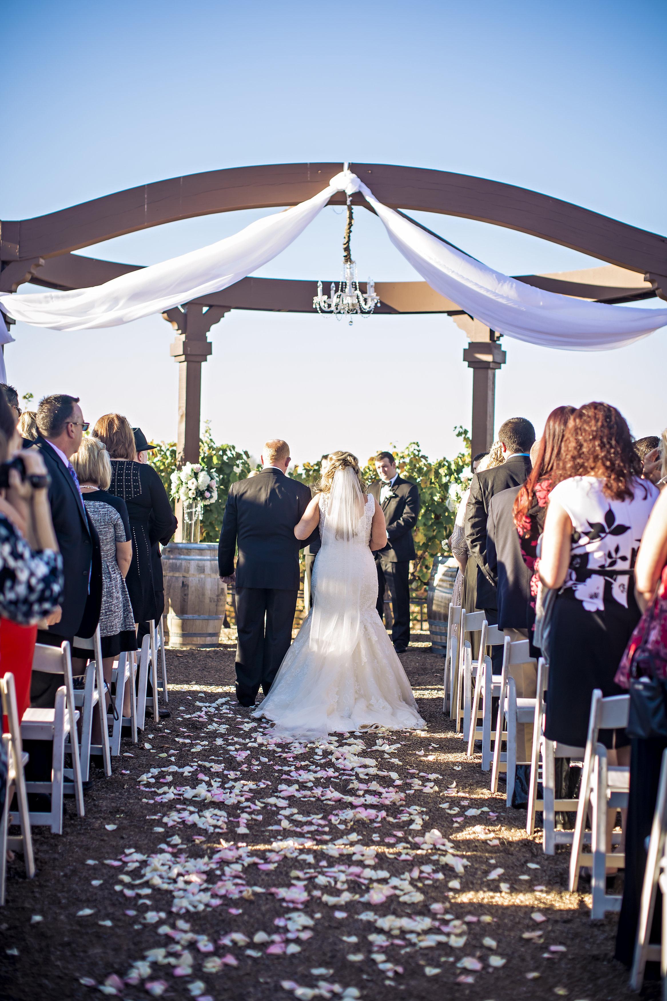 Merlot Mesa Wedding Ceremony | Temecula Private Estate Wedding | Michelle Garibay Events