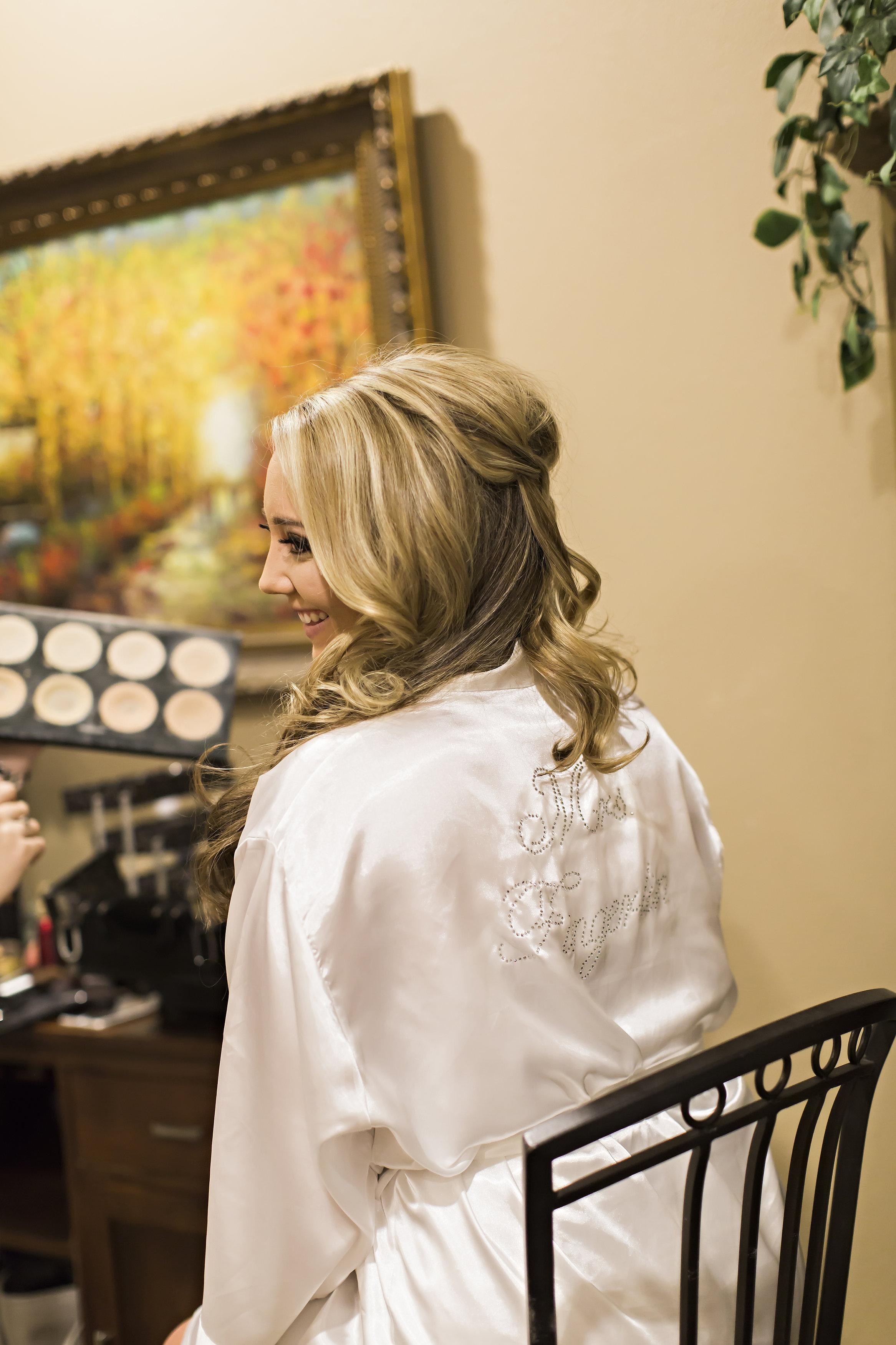 Personalized Bride Robe | Temecula Private Estate Wedding | Michelle Garibay Events