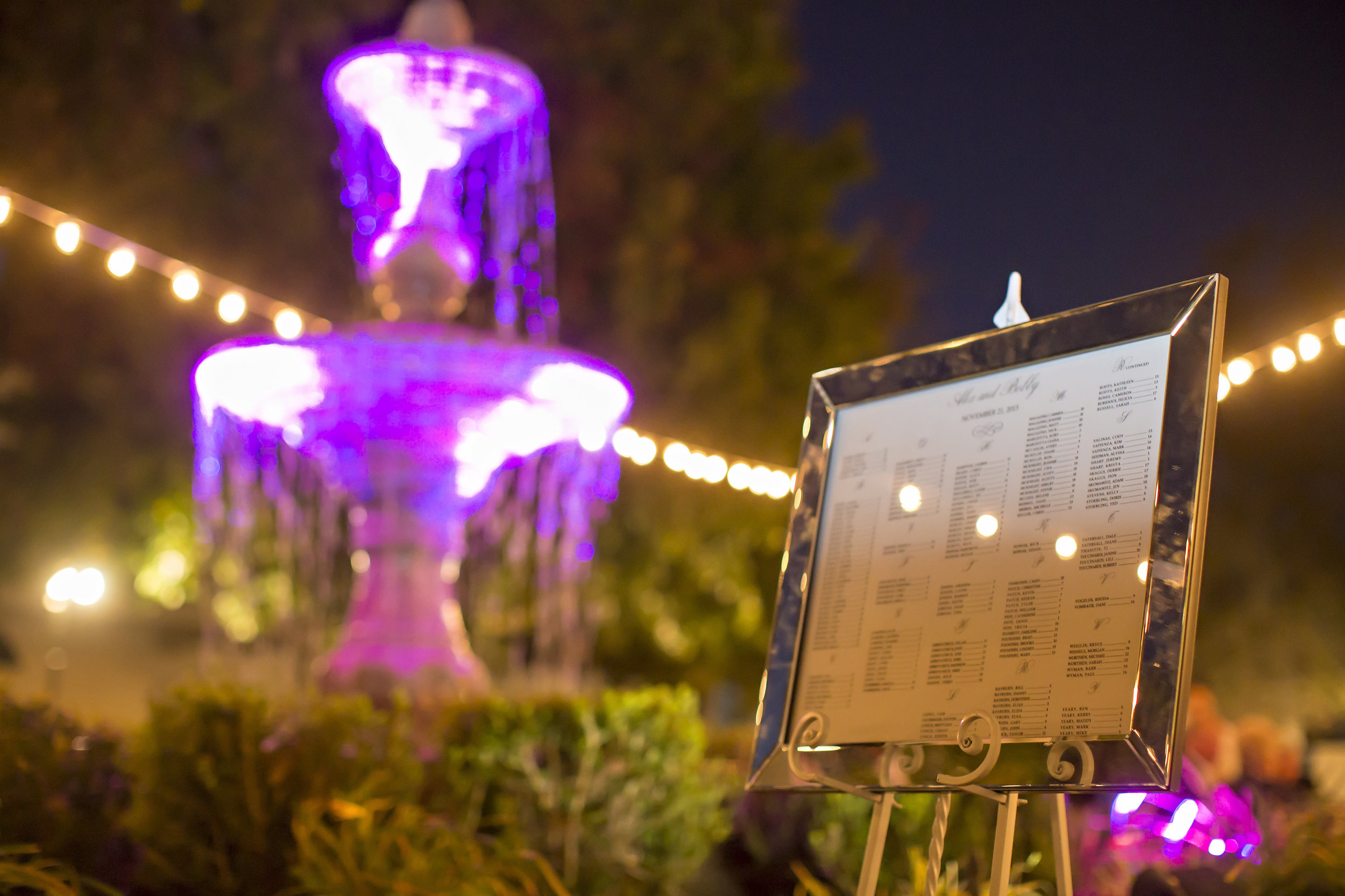 Seating Assignment in Mirror Frame | Temecula Private Estate Wedding | Michelle Garibay Events