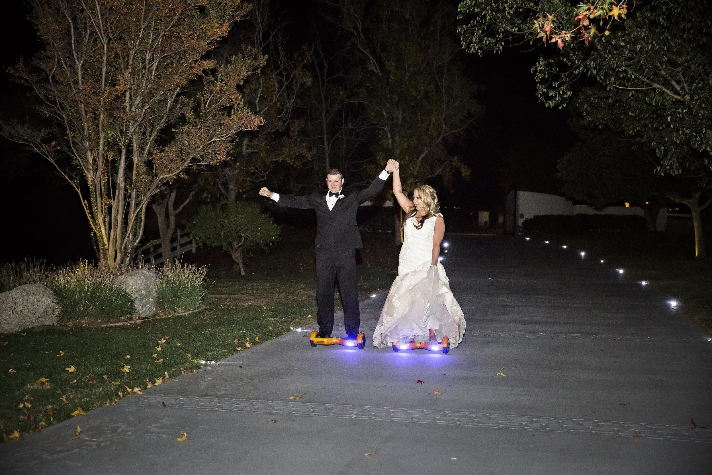 Hoverboard Grand Entrance | Temecula Private Estate Wedding | Michelle Garibay Events