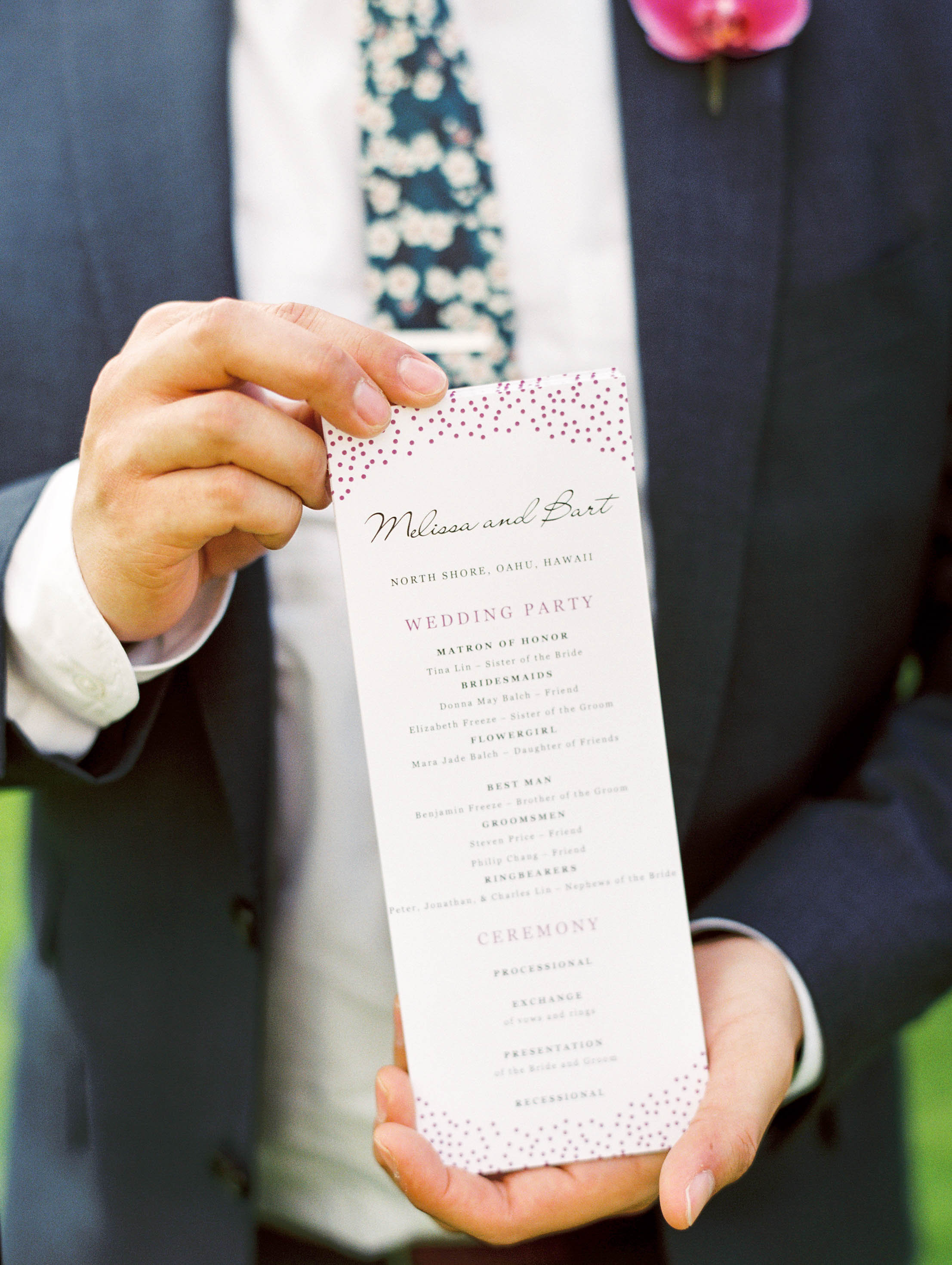 Michelle Garibay Events | Elegant Oahu Wedding | Loulu Palm Estate | Destination Wedding Planner