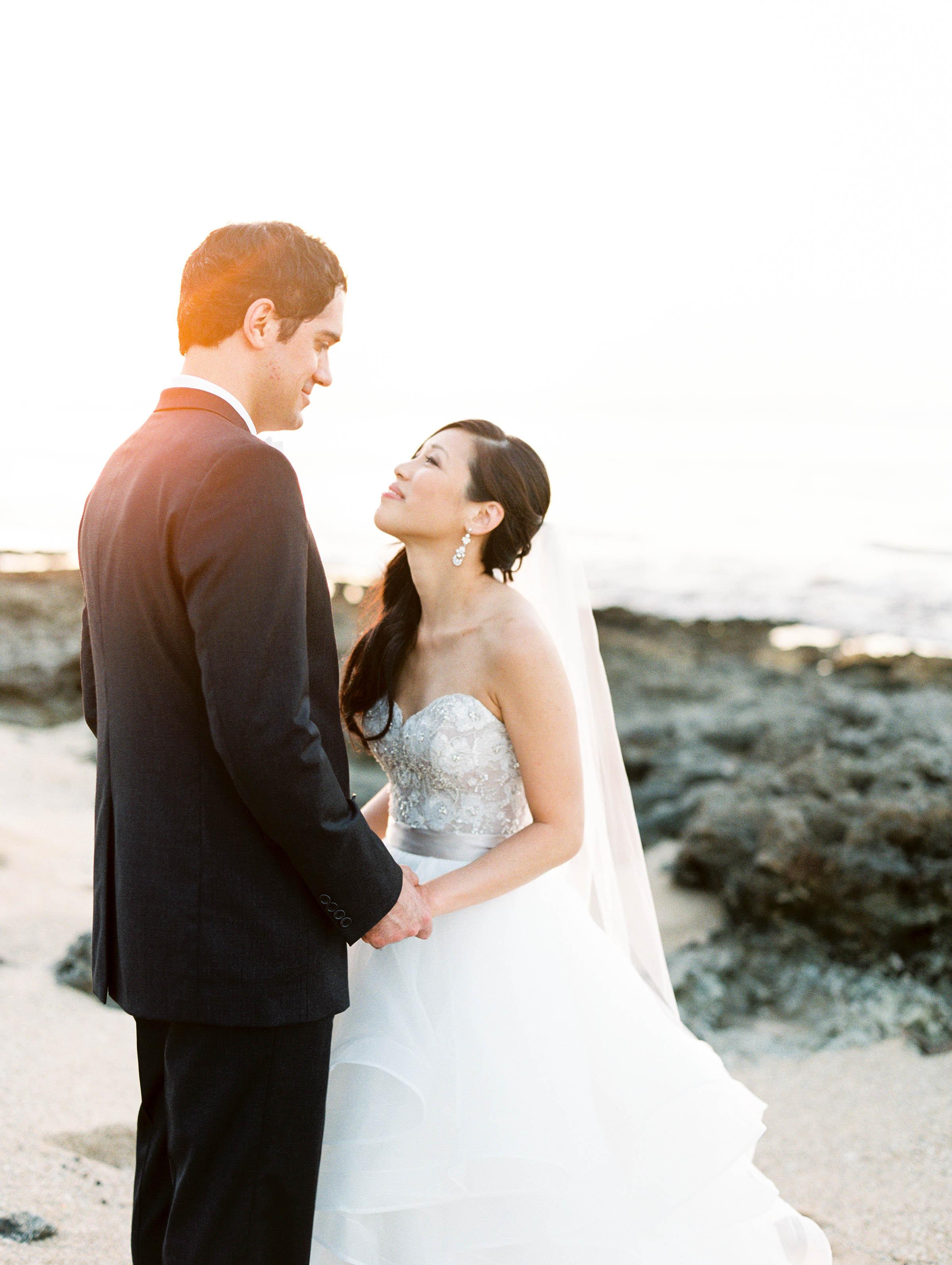 Michelle Garibay Events | Elegant Oahu Wedding | Loulu Palm Estate | Destination Wedding Planner | Beach Sunset Wedding