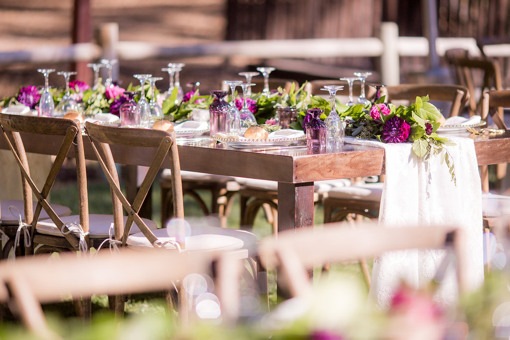 Rustic Elegance in Shades of Plum | Temecula Creek Inn | Honey Photographs by Alyss