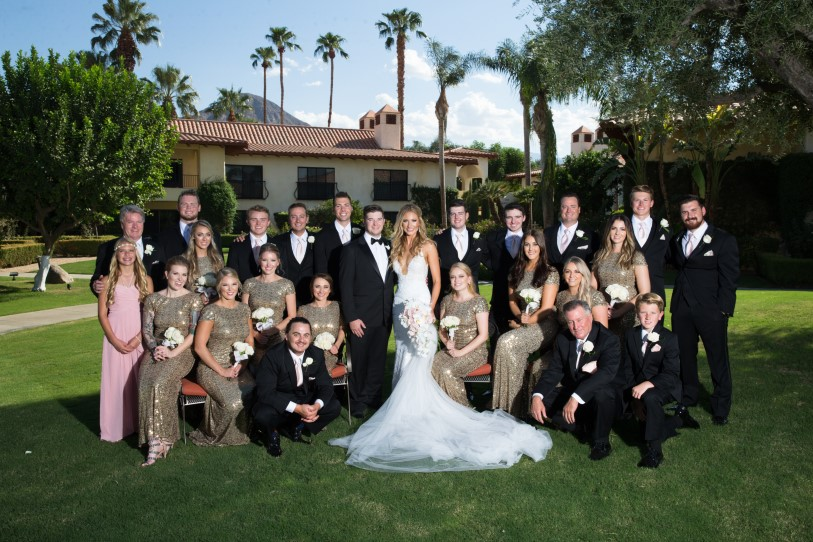 Blush and gold Palm Springs wedding at Miramote Resort | Ciprian Photography | Michelle Garibay Events