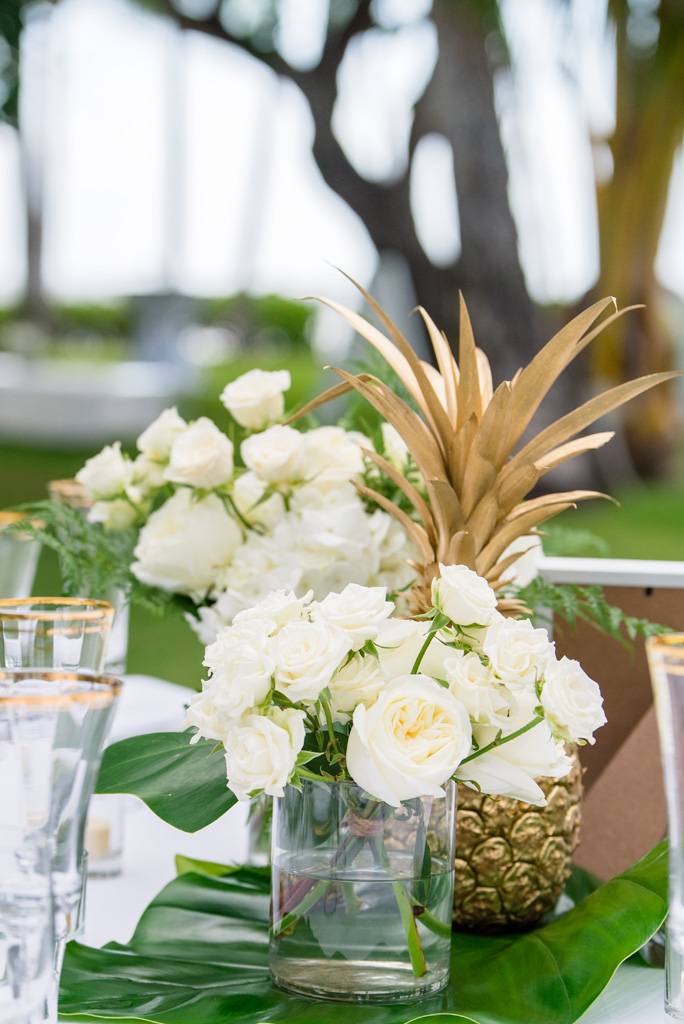 White and Gold Hawaii Wedding | Kayla Maree Photography | Michelle Garibay Events