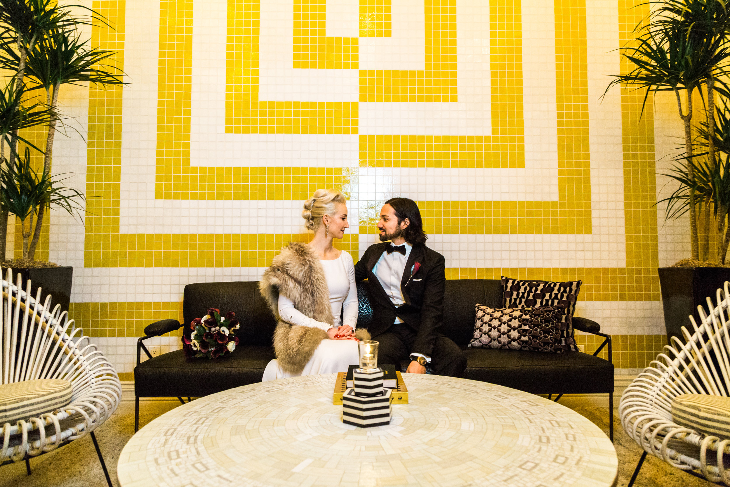 Modern Black and White Wedding in Palm Springs | Ashley La Prade Photography | Michelle Garibay Events