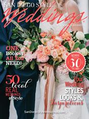 San Diego Style Weddings Feb2018 Cover | Michelle Garibay Events | Honey Photographs