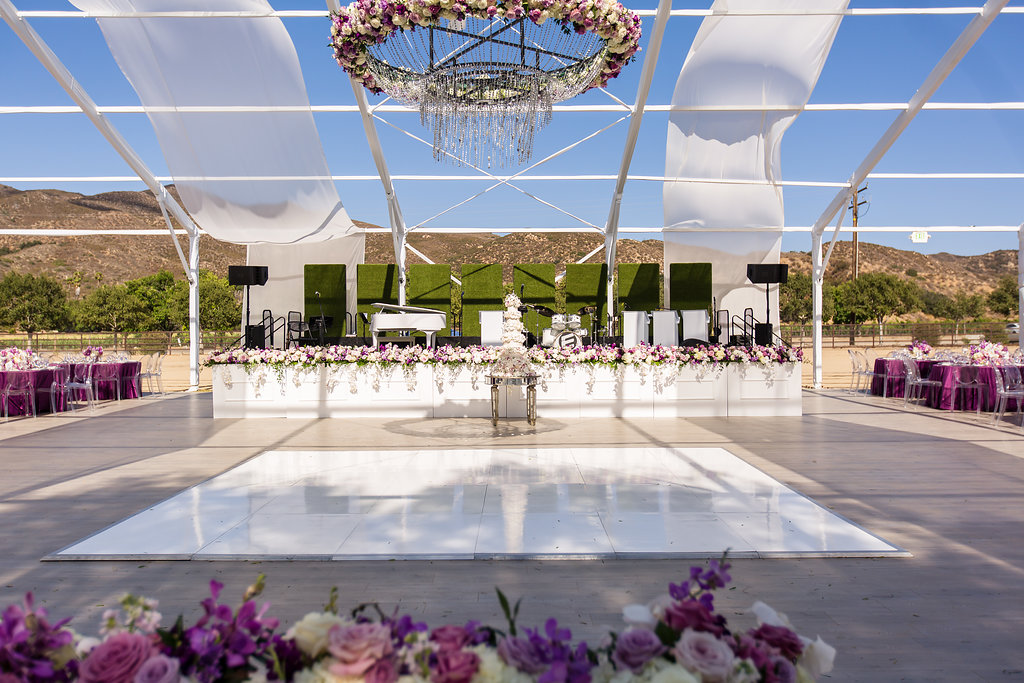 Brian Leahy Photo | Michelle Garibay Events | Luxury Temecula Wedding | La La Land Purple Wedding | Hollywood Glam Wedding | Floral Chandelier