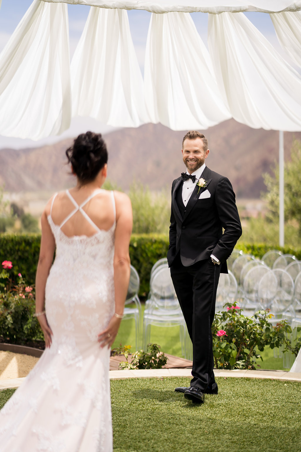 Brian Leahy Photo | Michelle Garibay Events | Luxury Temecula Wedding | La La Land Purple Wedding | Hollywood Glam Wedding | First Look