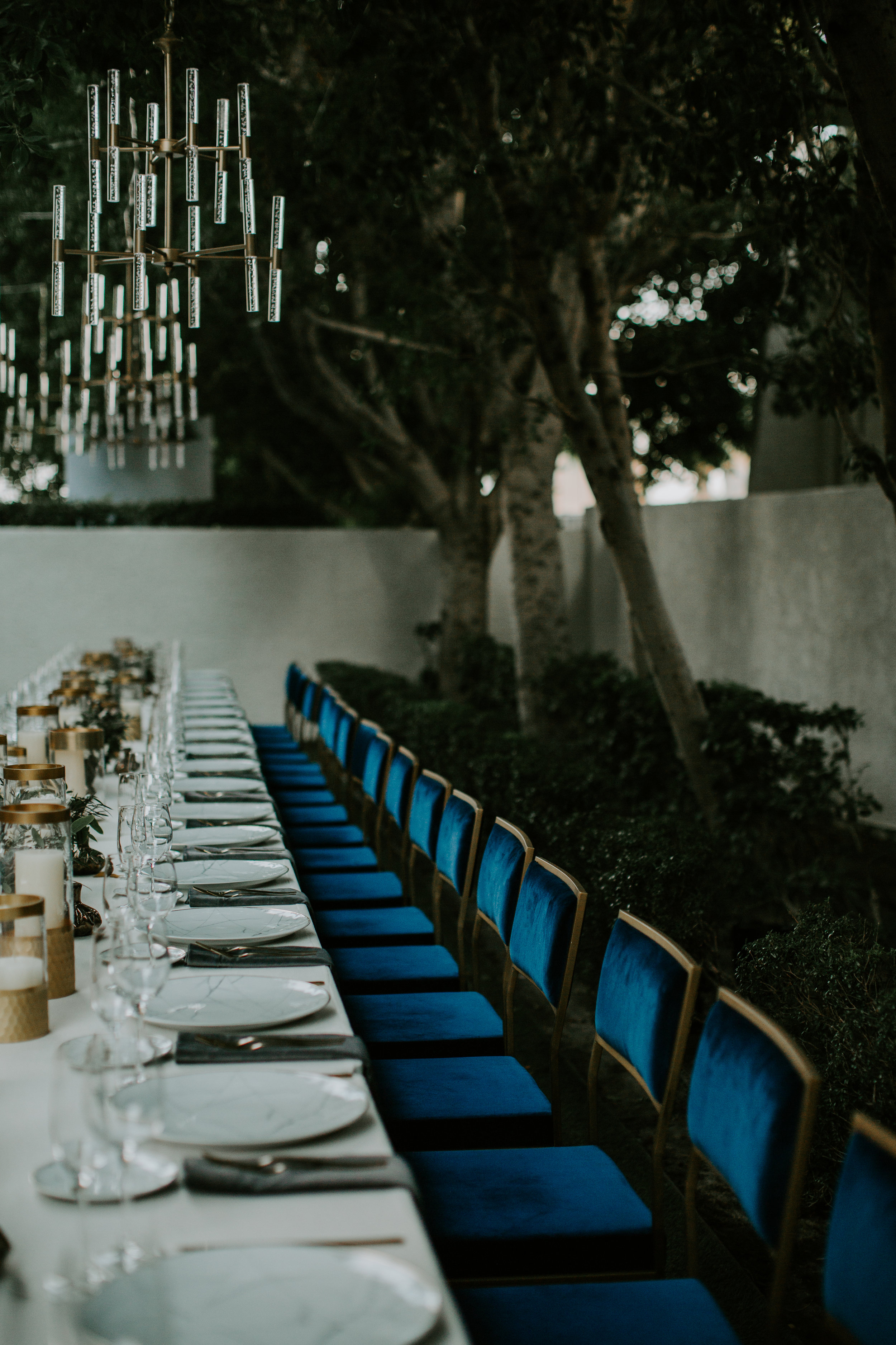 Michelle Garibay Events   Rouxby   Avalon Palm Springs   Masculine Chic Wedding in Navy and Gray