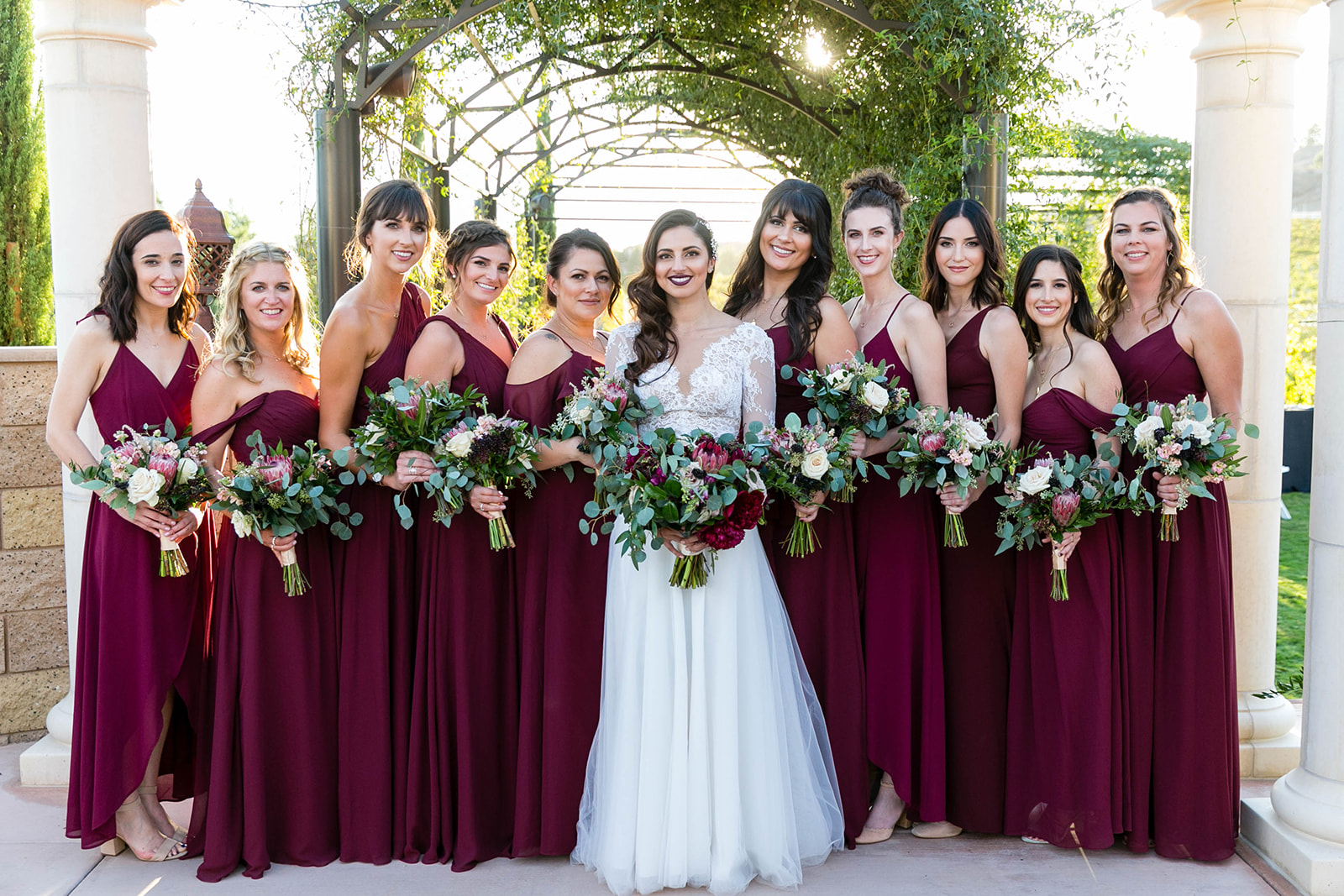 Organic Elegant Wine Country Wedding in Burgundy and Gold | Michelle Garibay Events | Leah Marie Photography | Fazeli Cellars