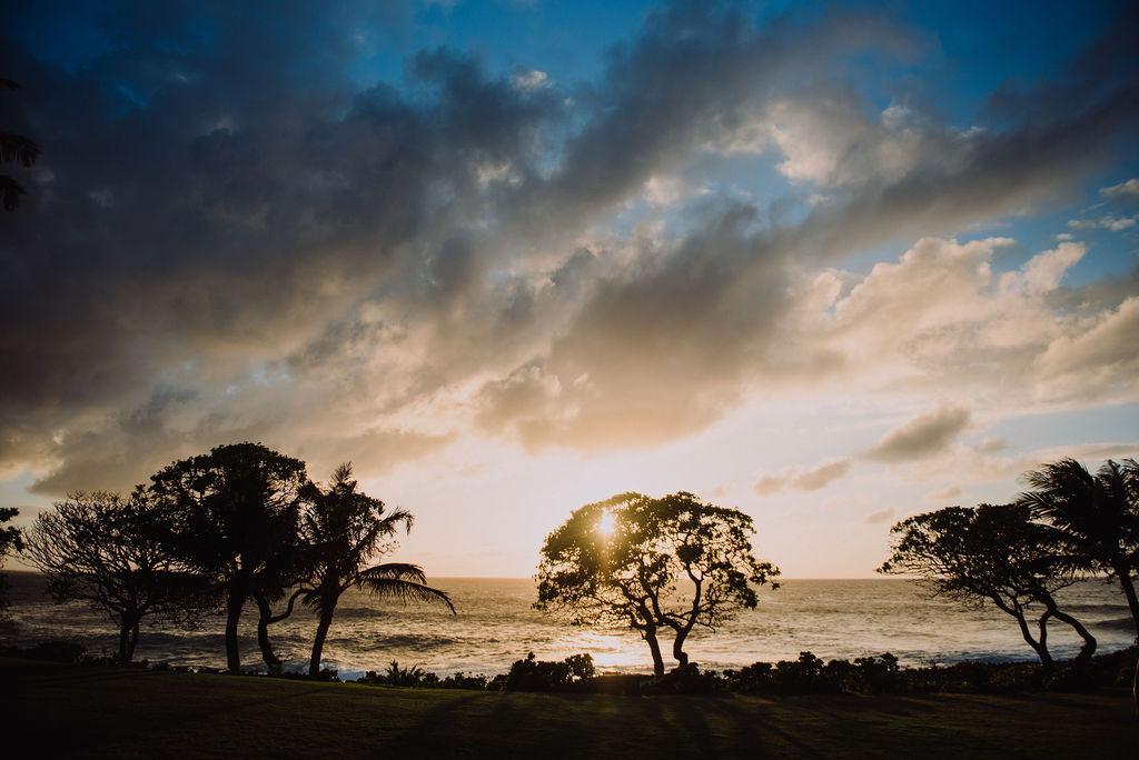 Oahu Hawaii Wedding | Turtle Bay Resort | Michelle Garibay Events | Christie Pham Photography | Hawaii Sunset