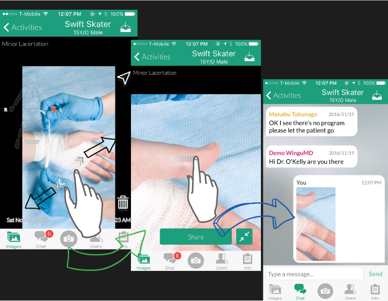 BodyMapSnap ZoomShare is very simple and quick way to share your viewing contexts.