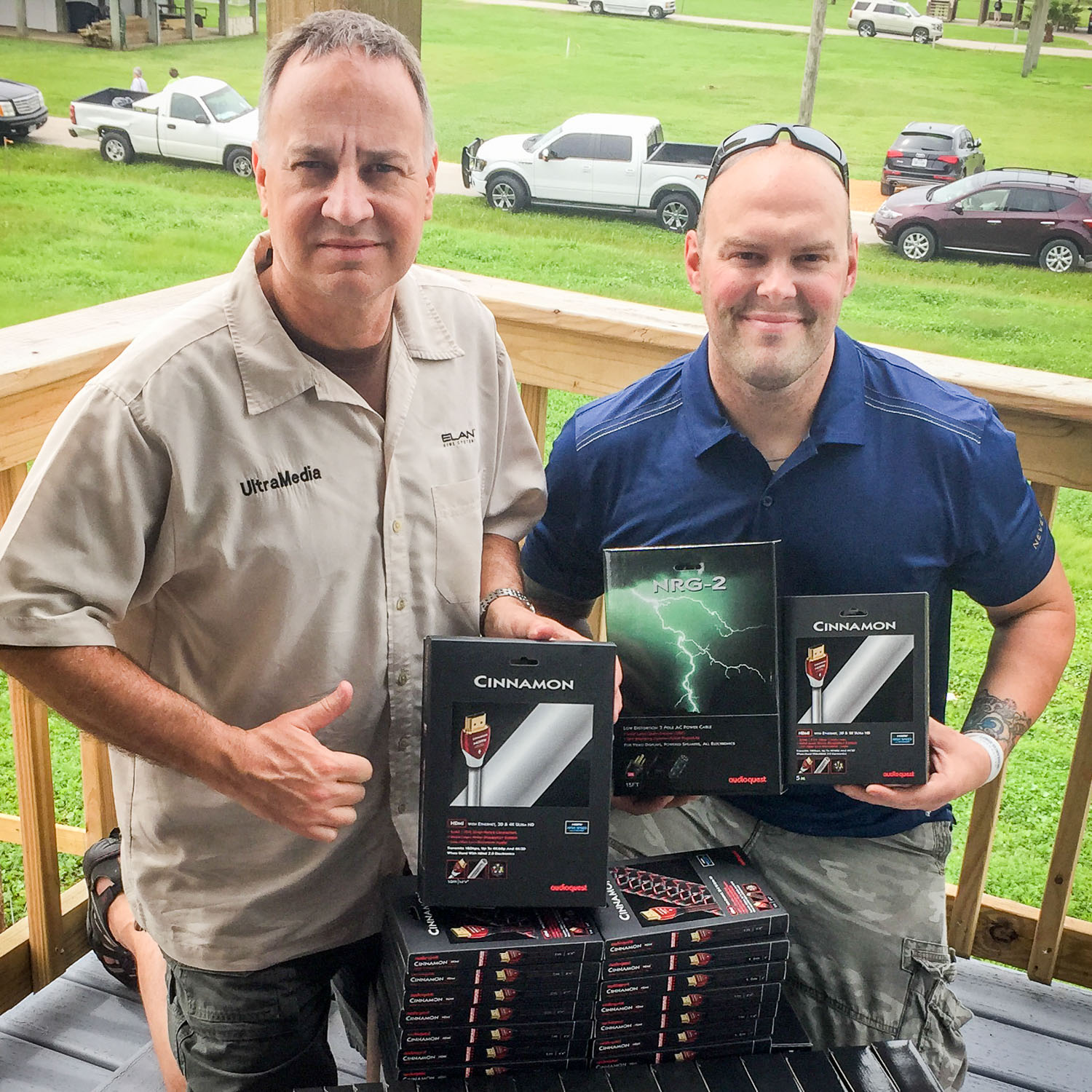 Pat and Luke install technology in Lone Survivor Retreat