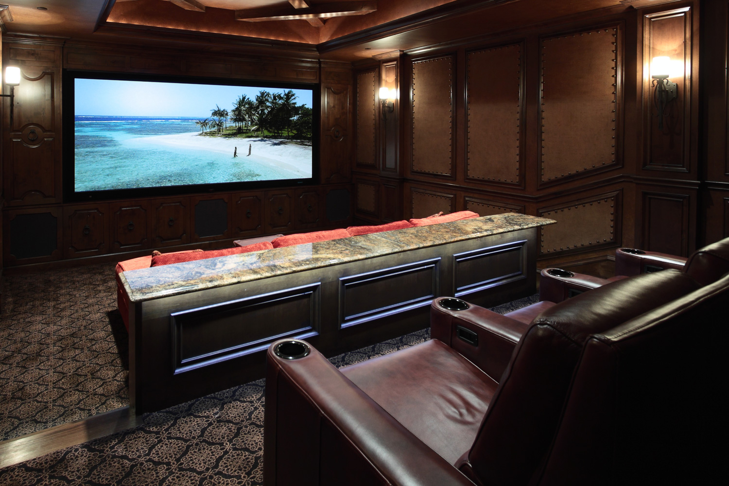 Luxurious seven-seat home theater in Westlake (Vaquero)