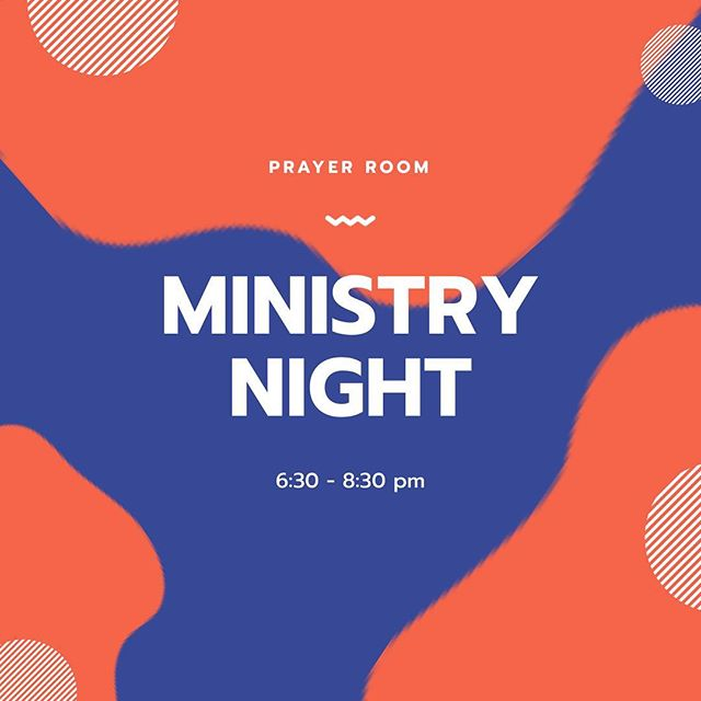 Monday nights we are setting aside 2 hours to let the Holy Spirit minister to us! So come tonight 6:30-8:30 in the prayer room!