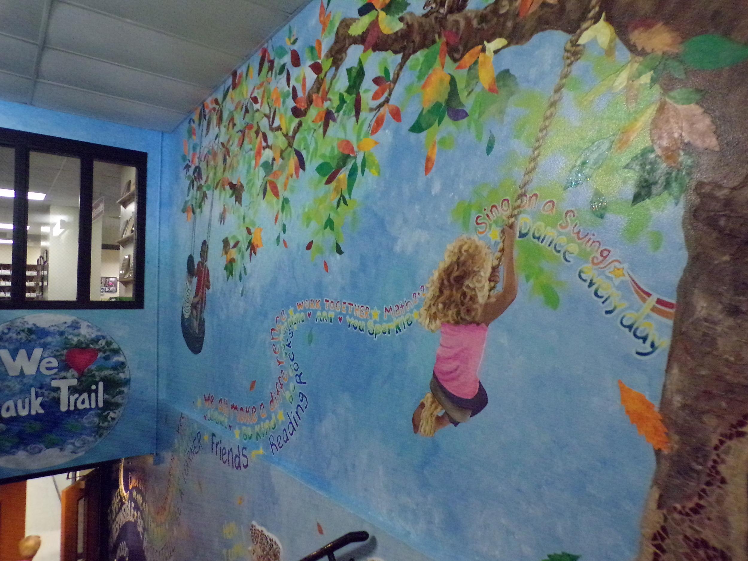 Mural at Sauk Trail Elementary School, Middleton