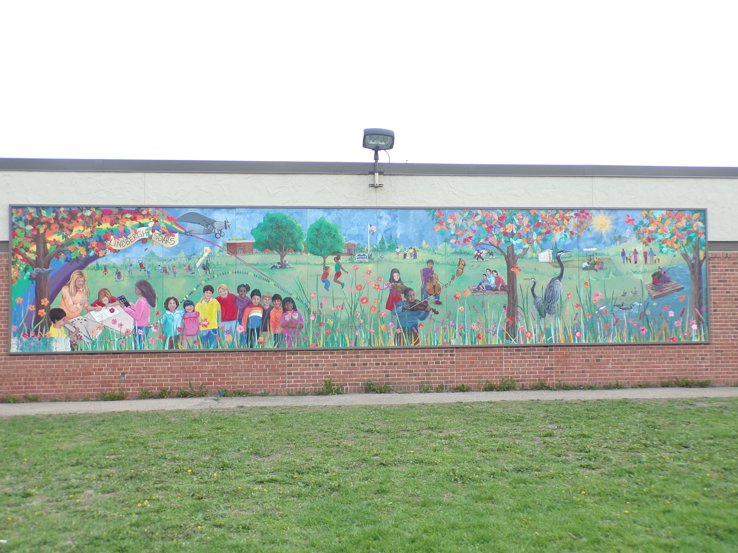Mural at Charles Lindbergh Elementary School, Madison
