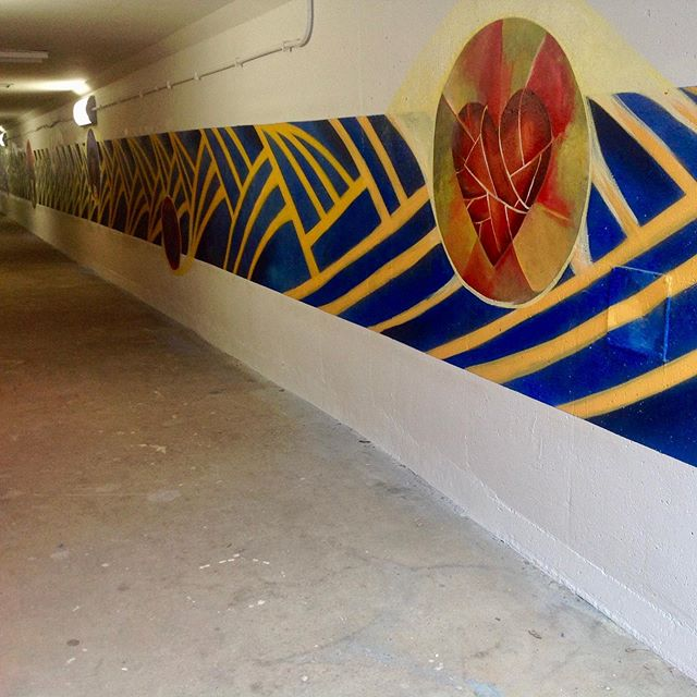 School Road / Northport Road pedestrian tunnel Mural with the DAMA Summer Institute students, Lavie Raven and Eli Lippert. #murals #danearts