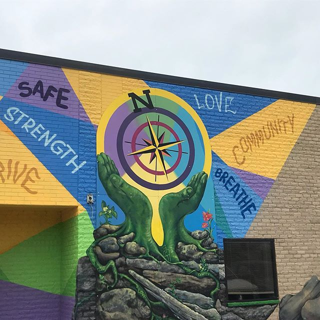 The dedication of the Northside Thrive mural. 8/14/19 at 4:30 pm. Dane County Job Center #murals #danearts