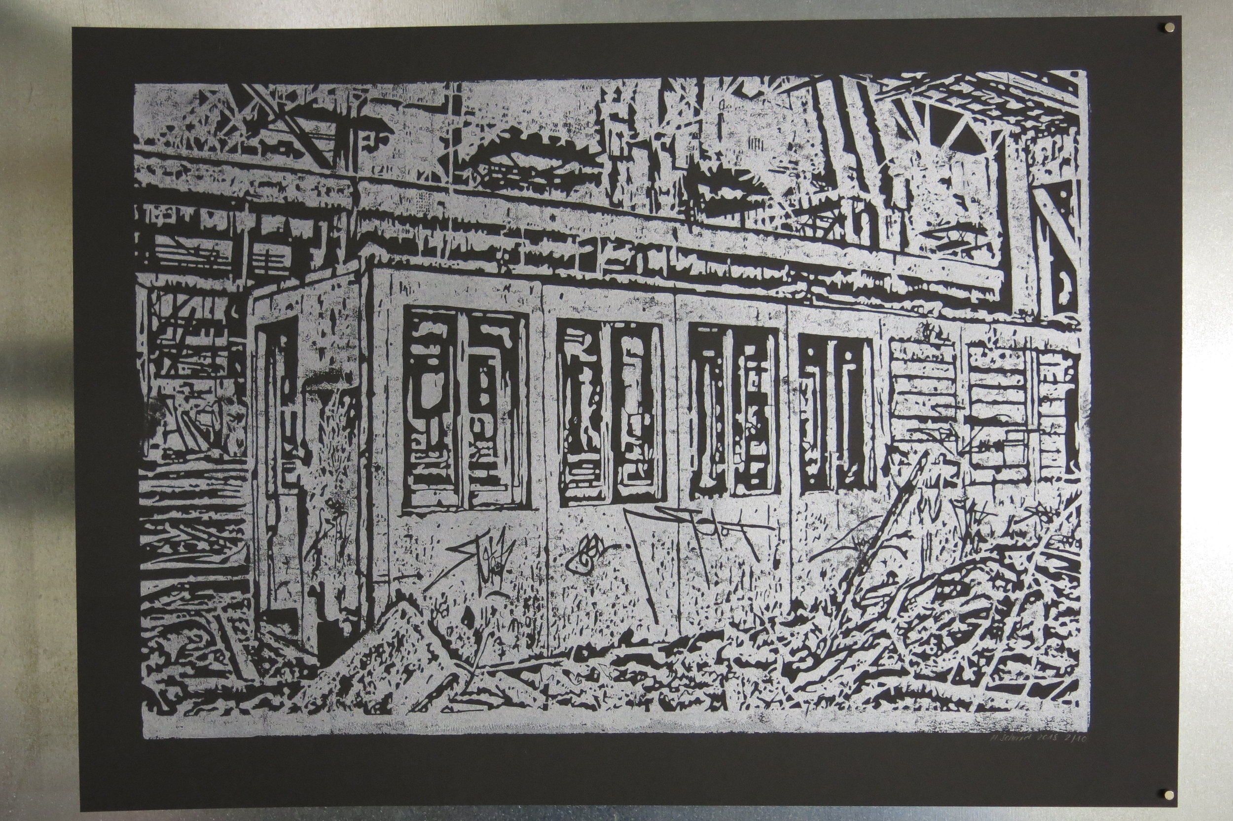 Linocut, 50cm x 70cm, 2018, Edition 1/10