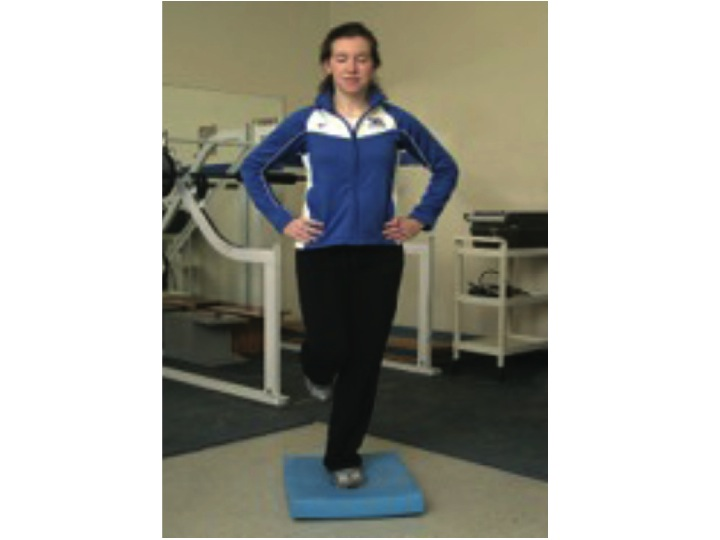 Single Leg Balance. Physical Therapy Proprioception Exercise