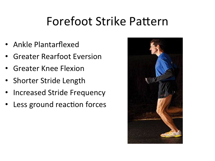 running, forefoot strike pattern, physical therapy running analysis