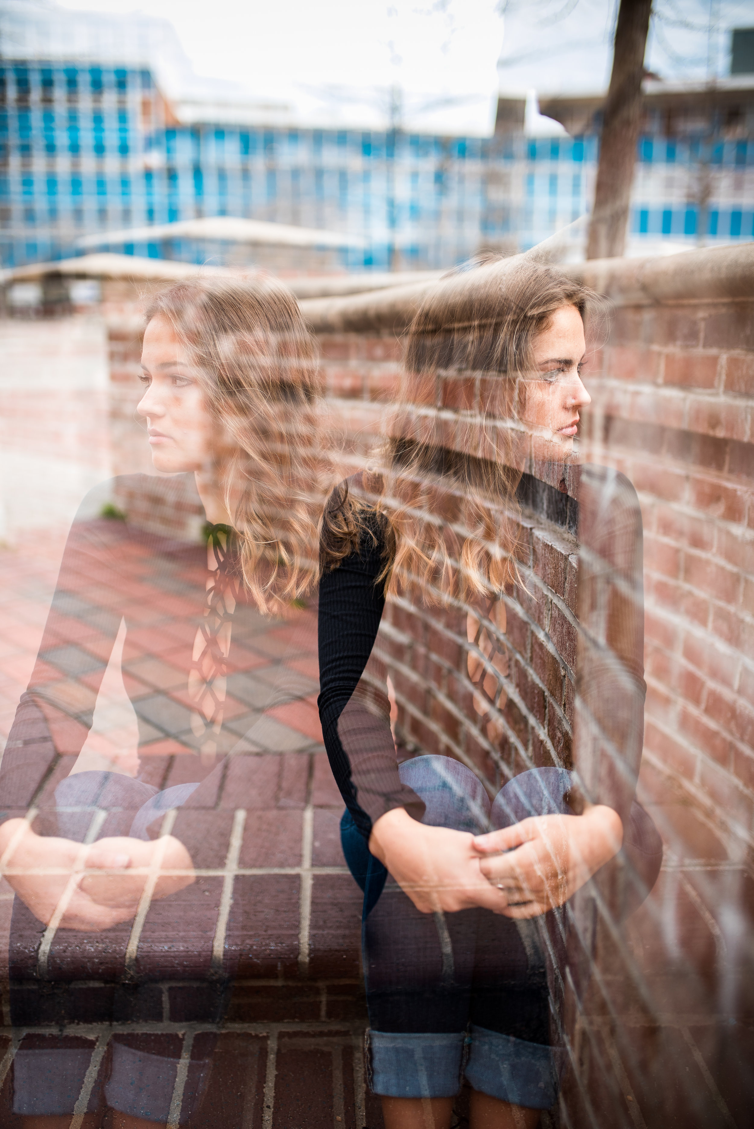 double exposure nikon d750 - durham portrait photographer