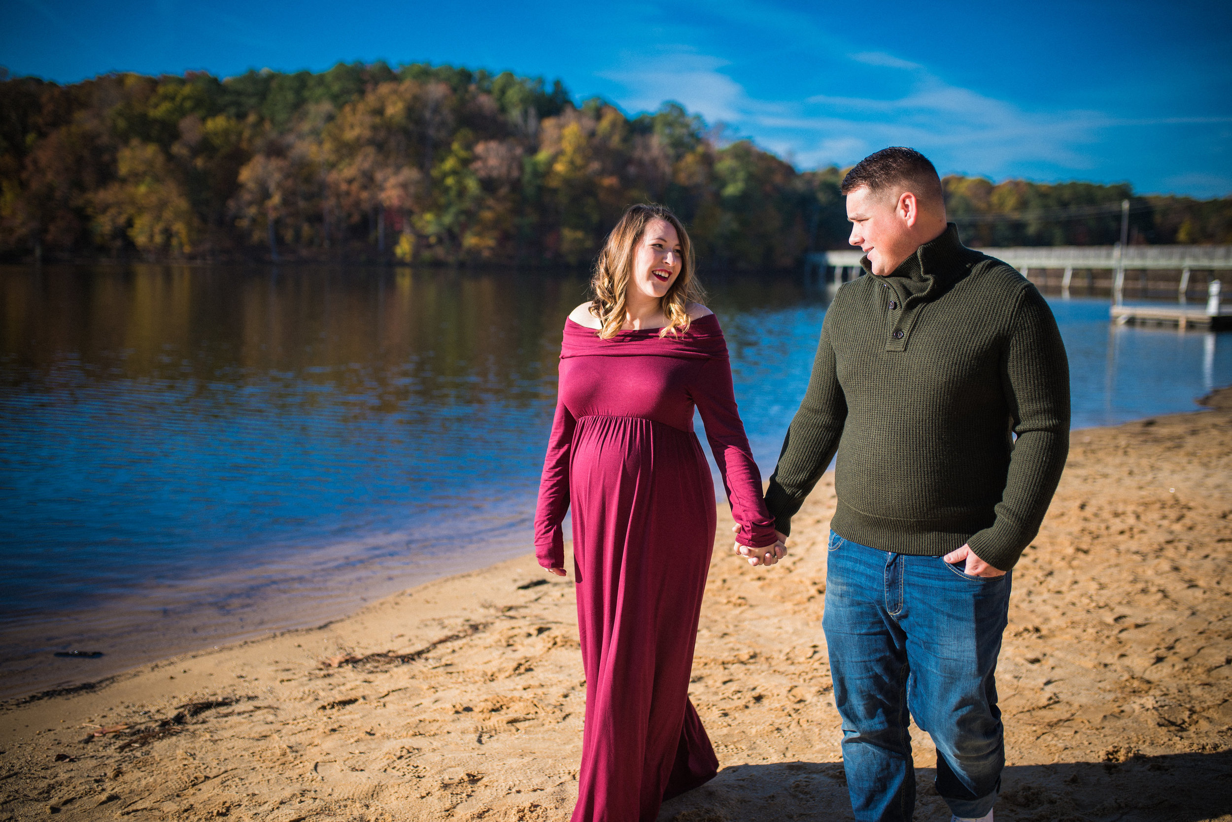 raleigh family photographer - north carolina photographer - maternity at lake johnson
