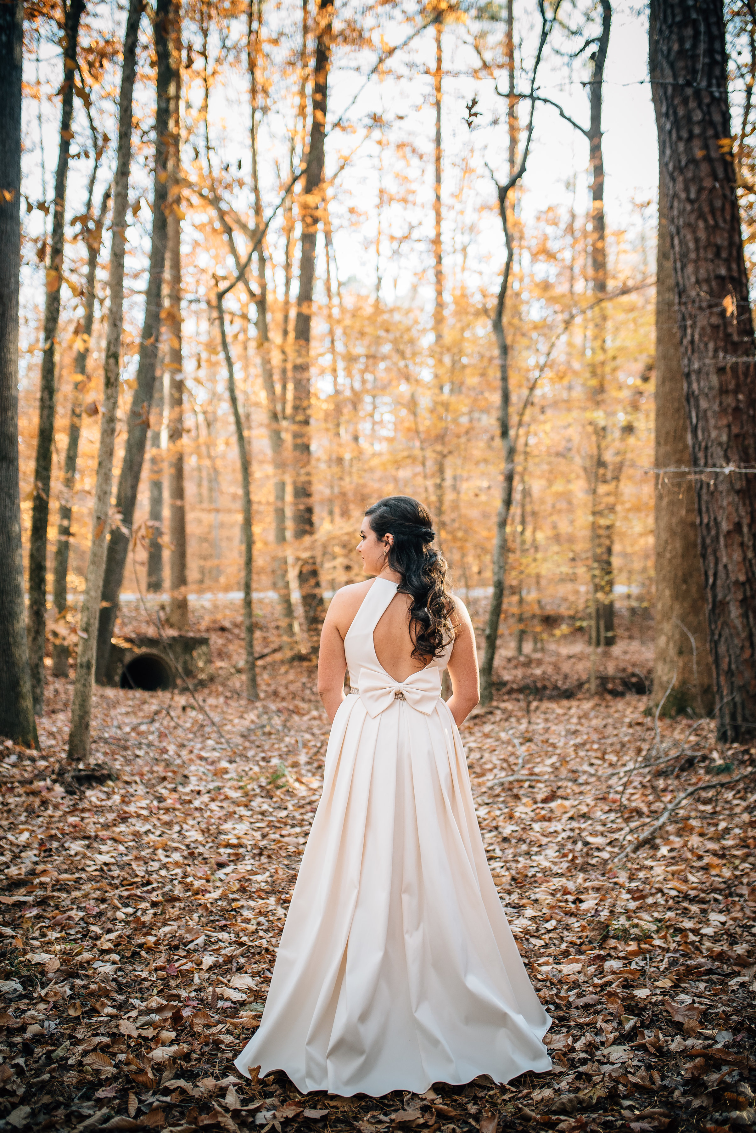 North Carolina Wedding Photographer - Raleigh Wedding Photographer - Bridal Portraits in the Woods