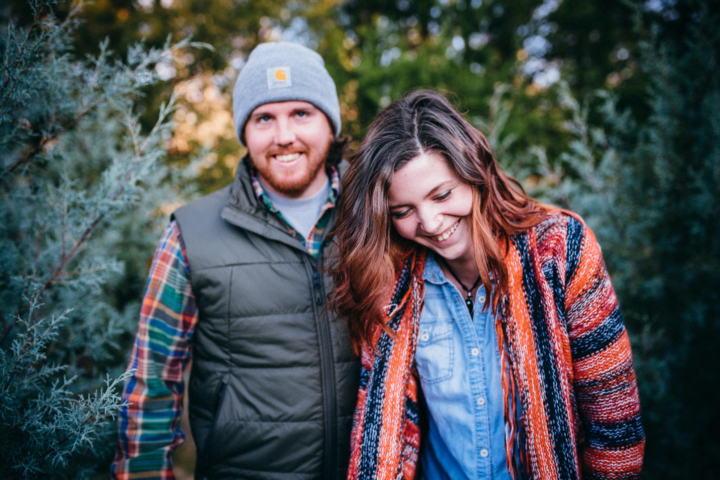 north carolina wedding photographer - christmas engagement - hockey engagement photos